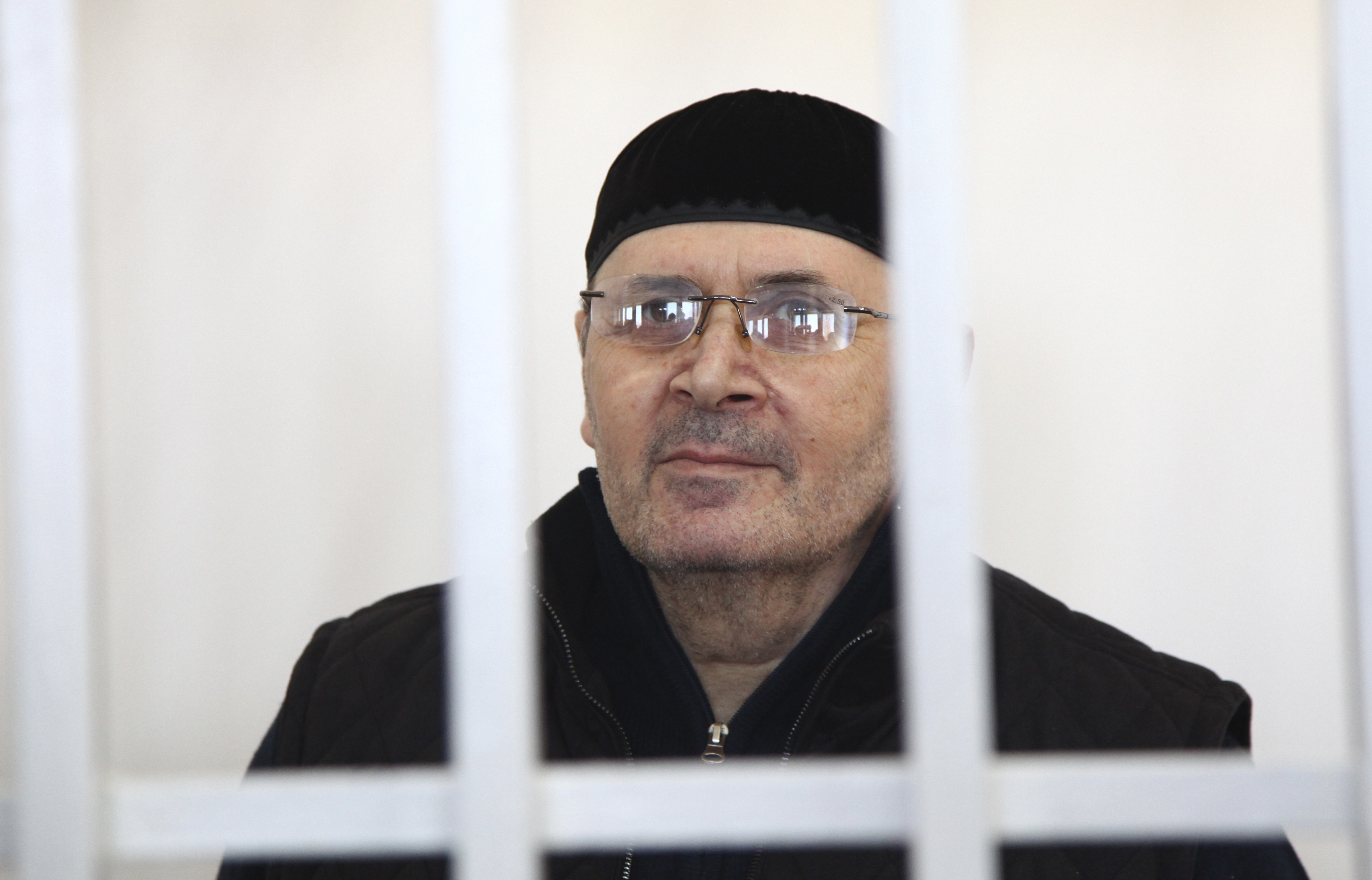 Oyub Titiyev, the head of regional branch of Russian human rights group Memorial, attends a court hearing in Grozny, Russia, March 6, 2018. A court in Chechnya extended his detention of Oyub Titiev until May 9. And Friday, he lost an appeal of that ...