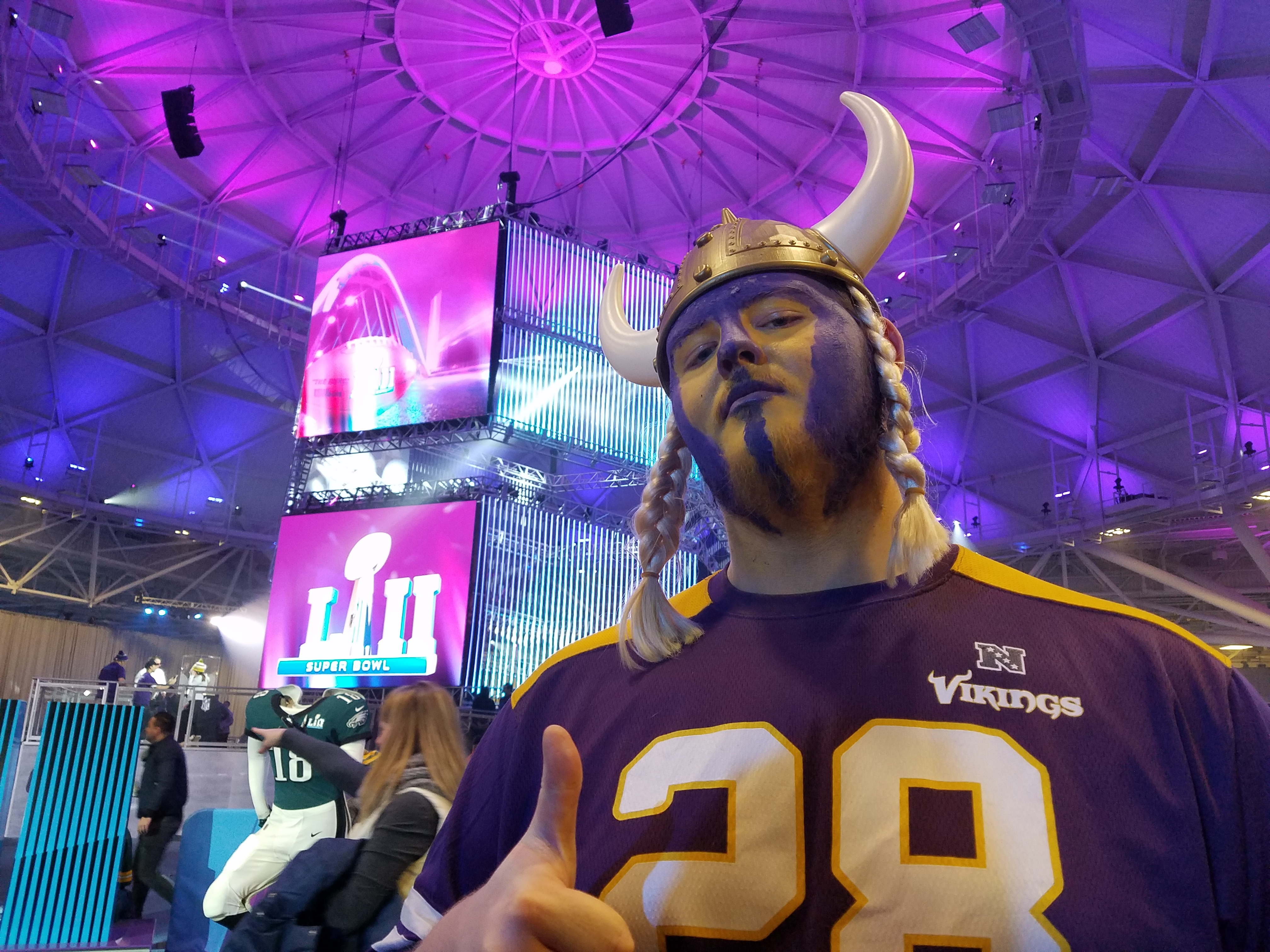 """This year's Super Bowl host city is Minneapolis, Minnesota. Their home team, the Vikings, came within one win of playing in the big game. That's still a fresh wound for Vikings fans like Drake Jackson: """"My heart aches a little bit once I see Pa..."""
