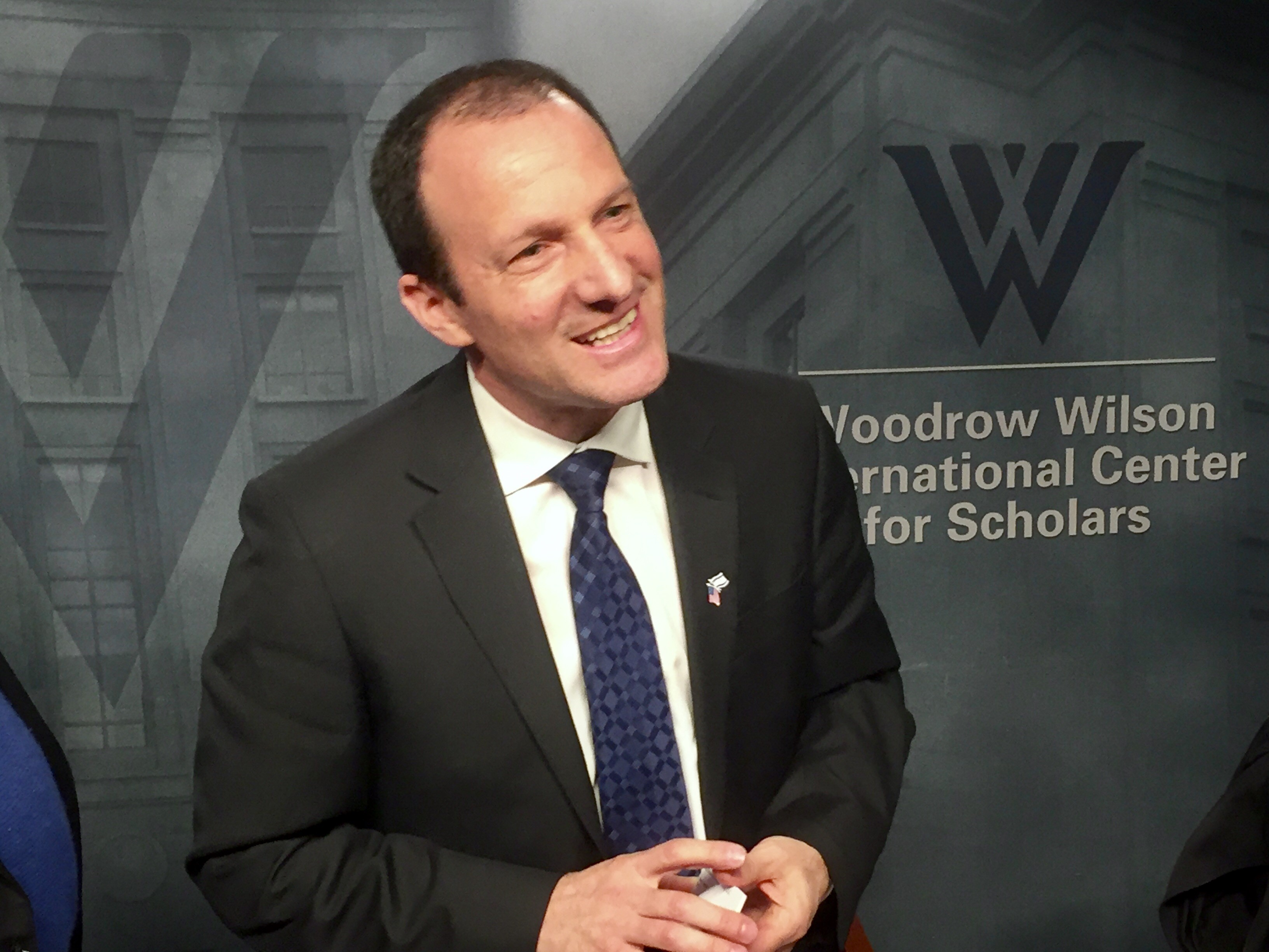 Reuven Azar, deputy head of mission at the Israeli embassy in Washington, appears at a Wilson Center forum in Washington on March 9, 2017.