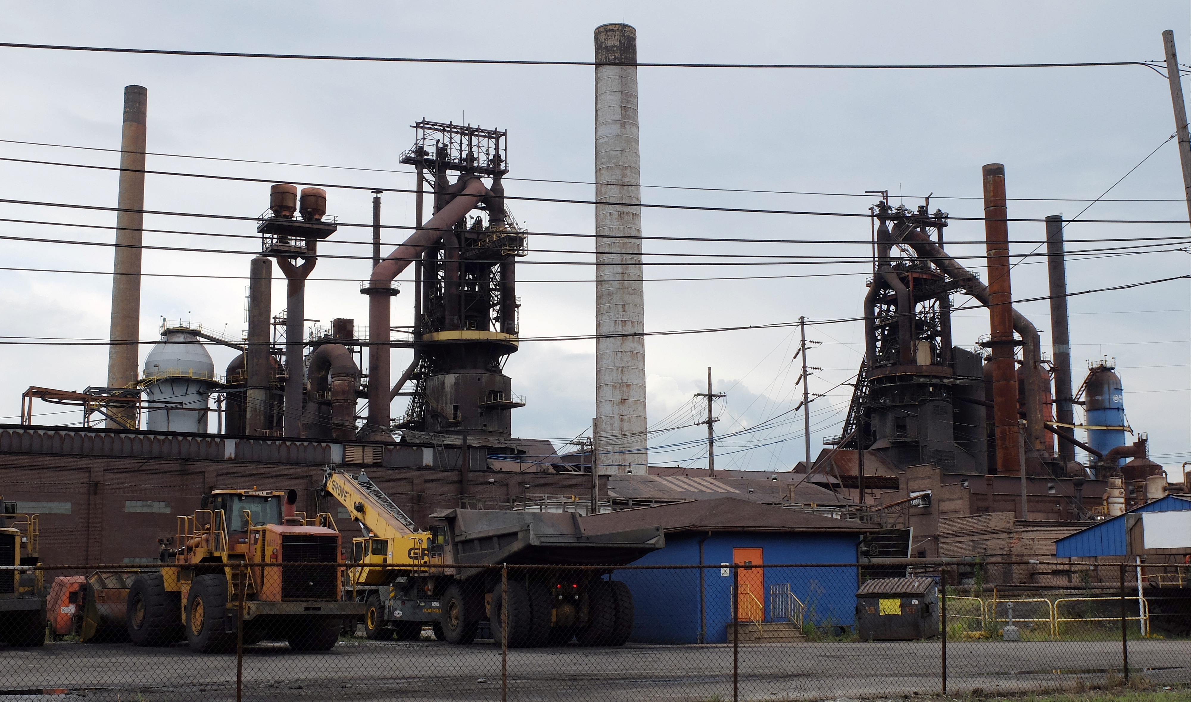 Idled blast furnaces at U.S. Steel Corp's Granite City Works in Granite City, Illinois, July 5, 2017. U.S. President Donald Trump is considering steel import curbs based on a national security review of the industry.