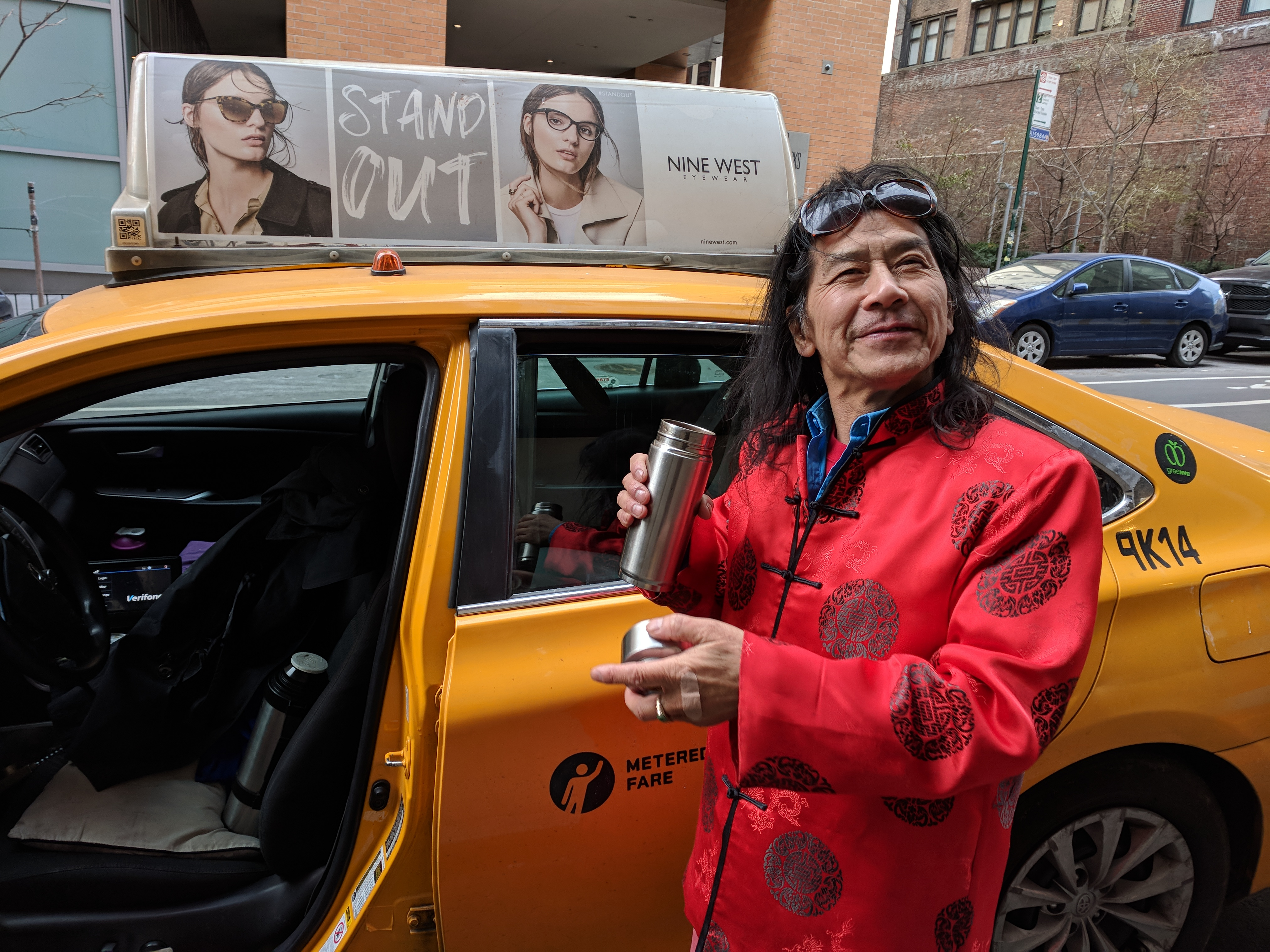"Alex Wang doesn't shy away from his newfound fame as cover man and Mr. December of the 2018 NYC Taxi Drivers Calendar. ""The whole year, everybody can see me from beginning to the end!"" he said."