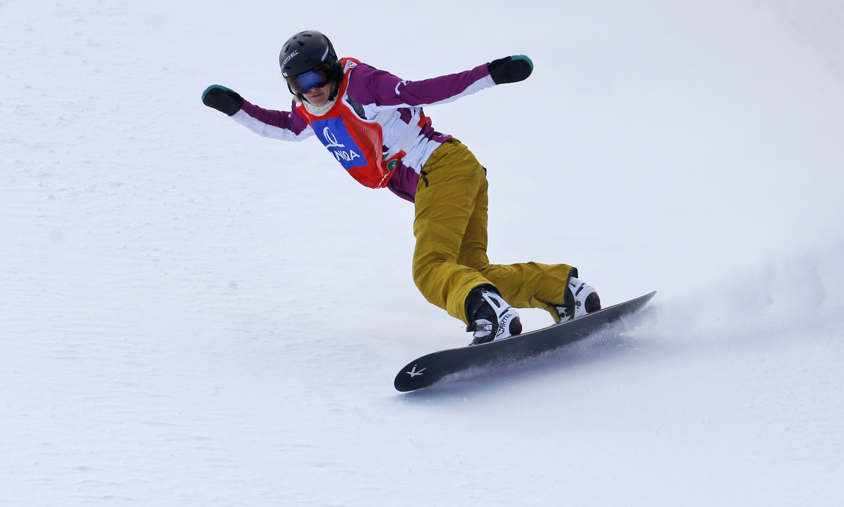 Lindsey Jacobellis from the U.S. competes to win the snowboard cross event at the Freestyle Ski and Snowboard World Championships in Kreischberg, Austria, Jan. 16, 2015.