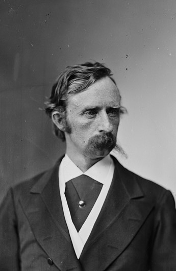 Detail from undated photograph of General George A. Custer, 1869.
