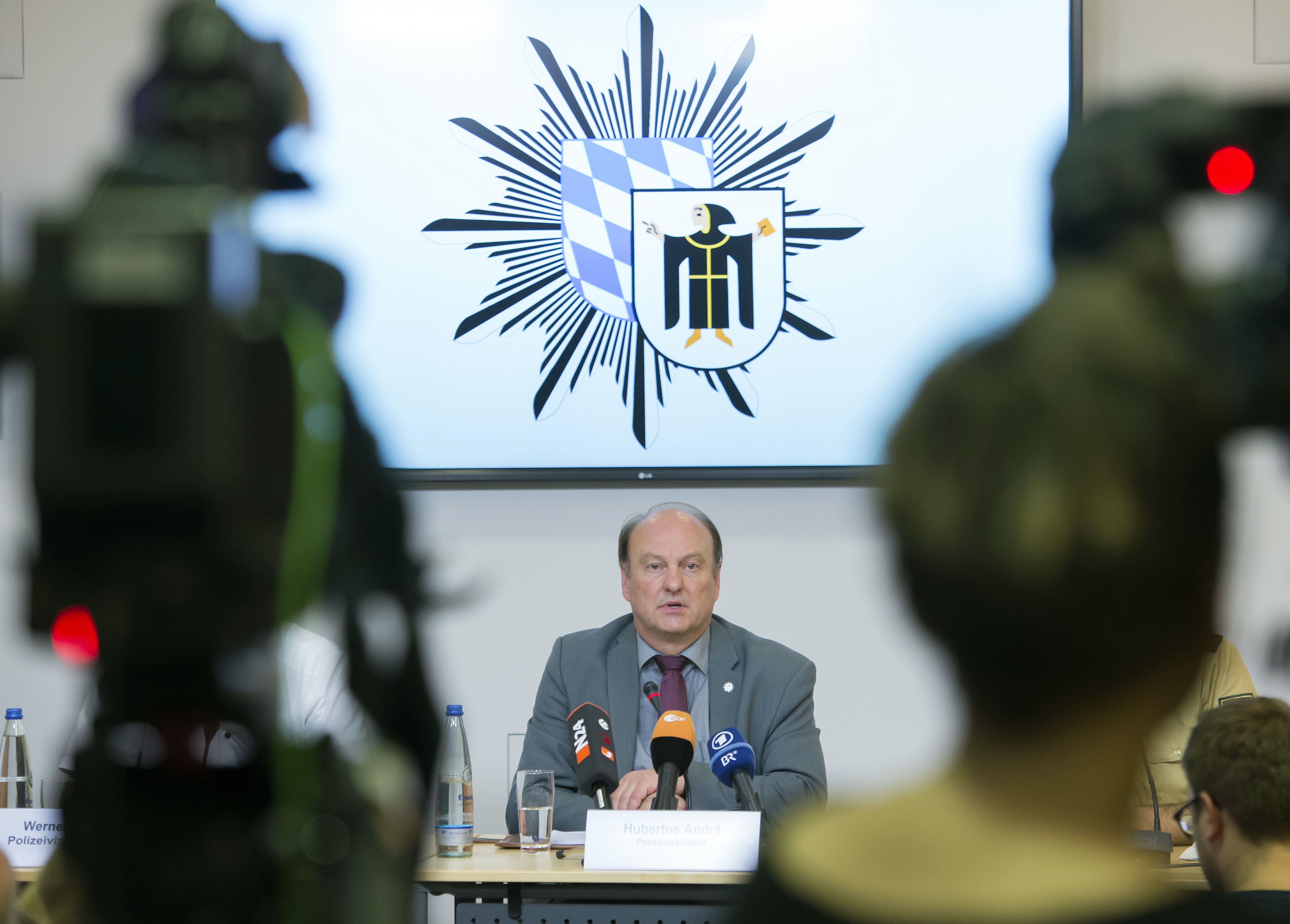Munich police chief Hubertus Andrae speaks during a press conference in Munich, Germany, Saturday, July 23, 2016.