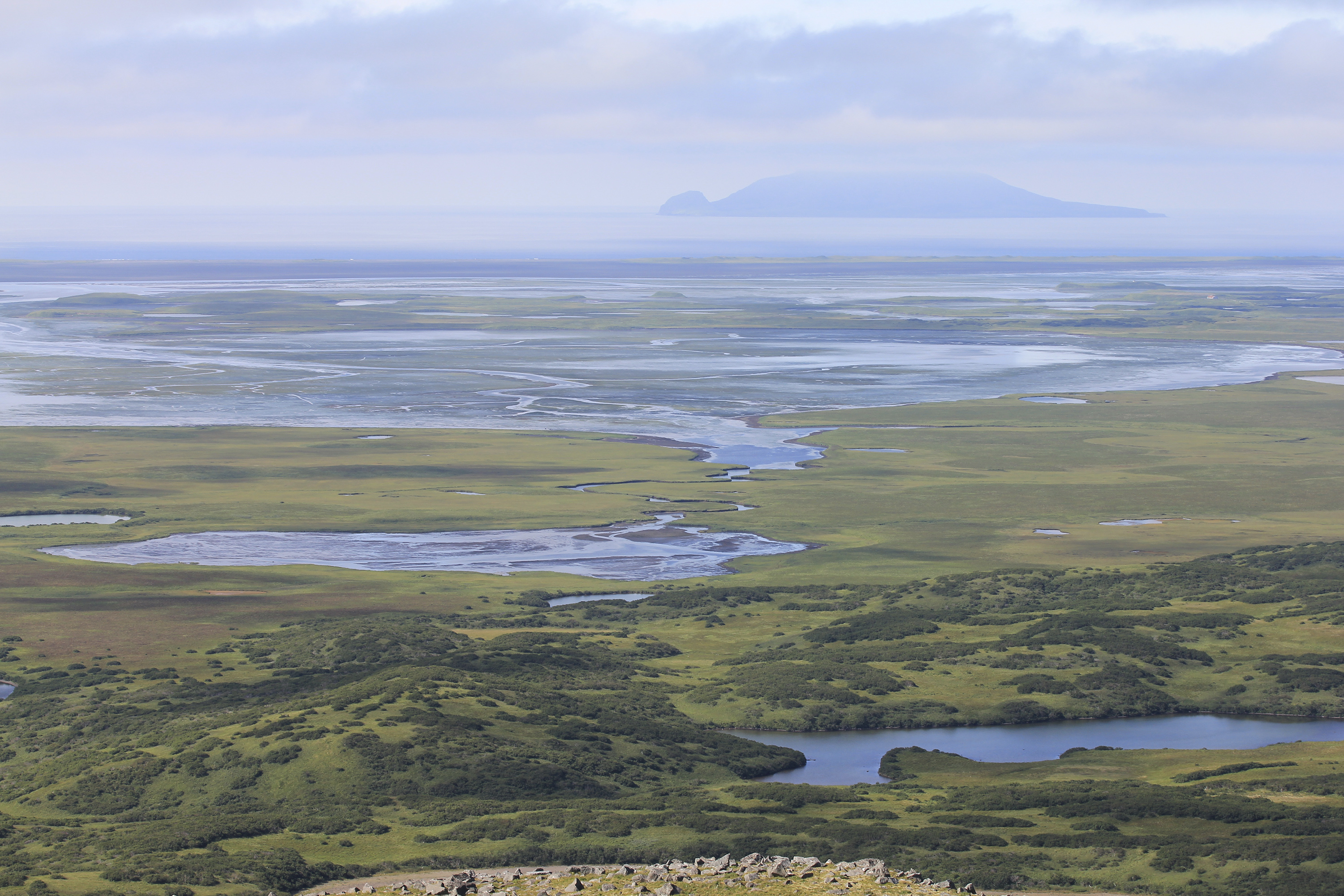 FILE - The lagoon complex is seen in the Izembek National Wildlife Refuge, located in Alaska's Aleutian Islands, in this U.S. Fish and Wildlife Service picture taken Aug. 24, 2010.