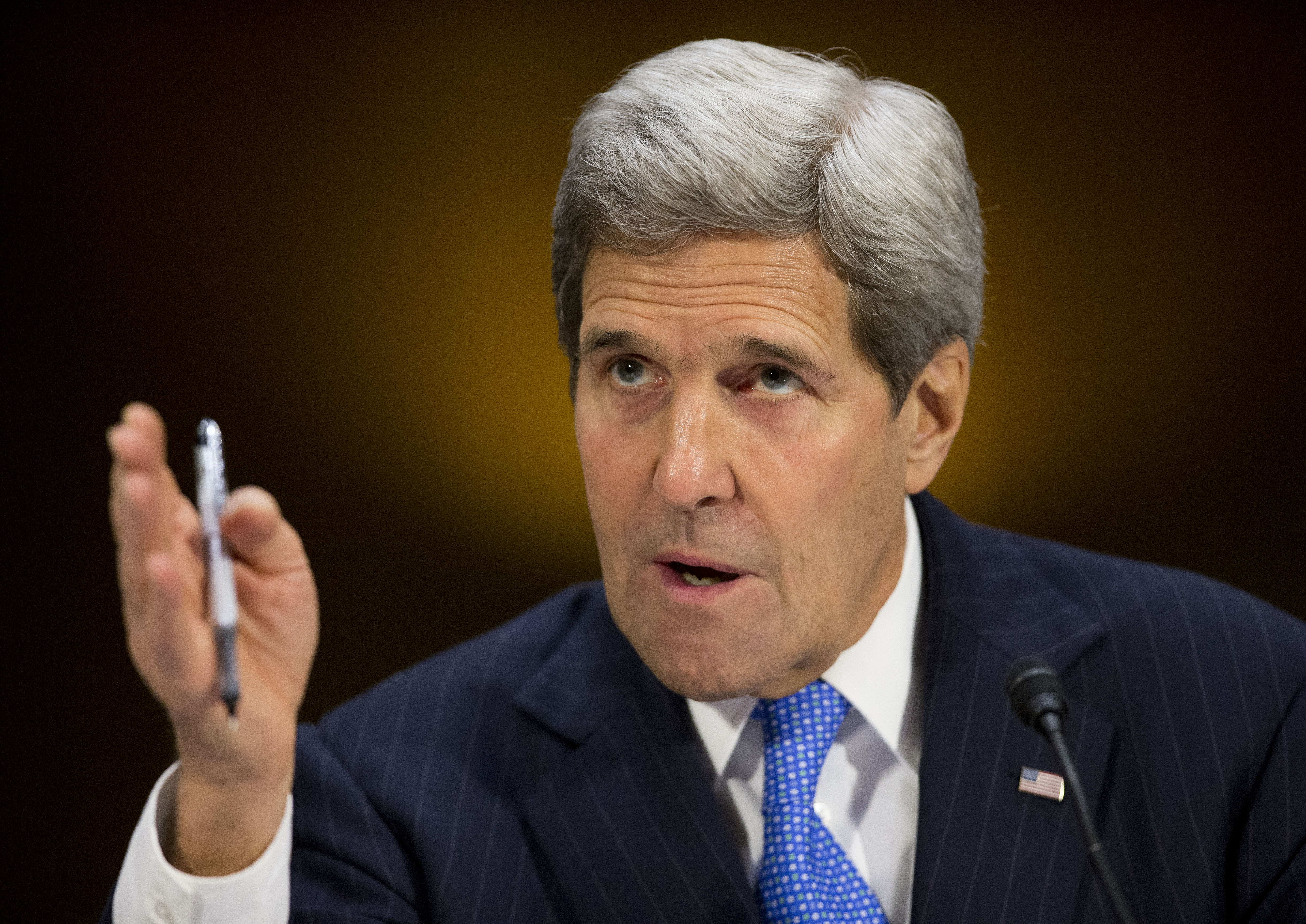 Secretary of State John Kerry testifies on Capitol Hill in Washington, March 11, 2015, before the Senate Foreign Relation Committee.