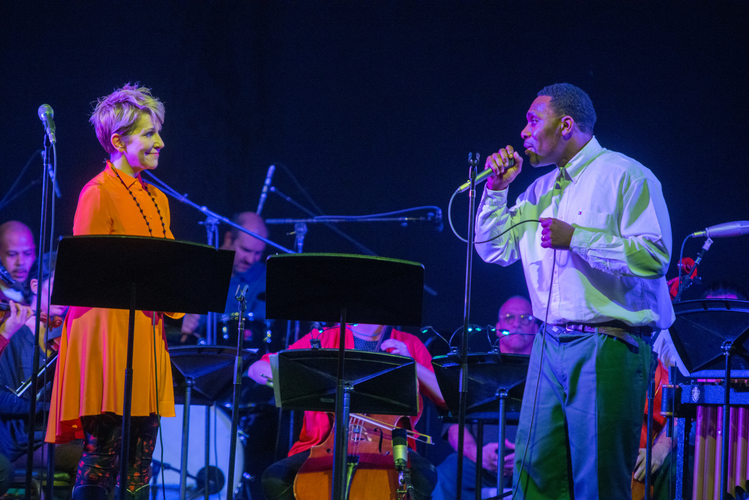 Joe performs a duet with mezzo-soprano Joyce DiDonato. (Photo by Stephanie Berger)