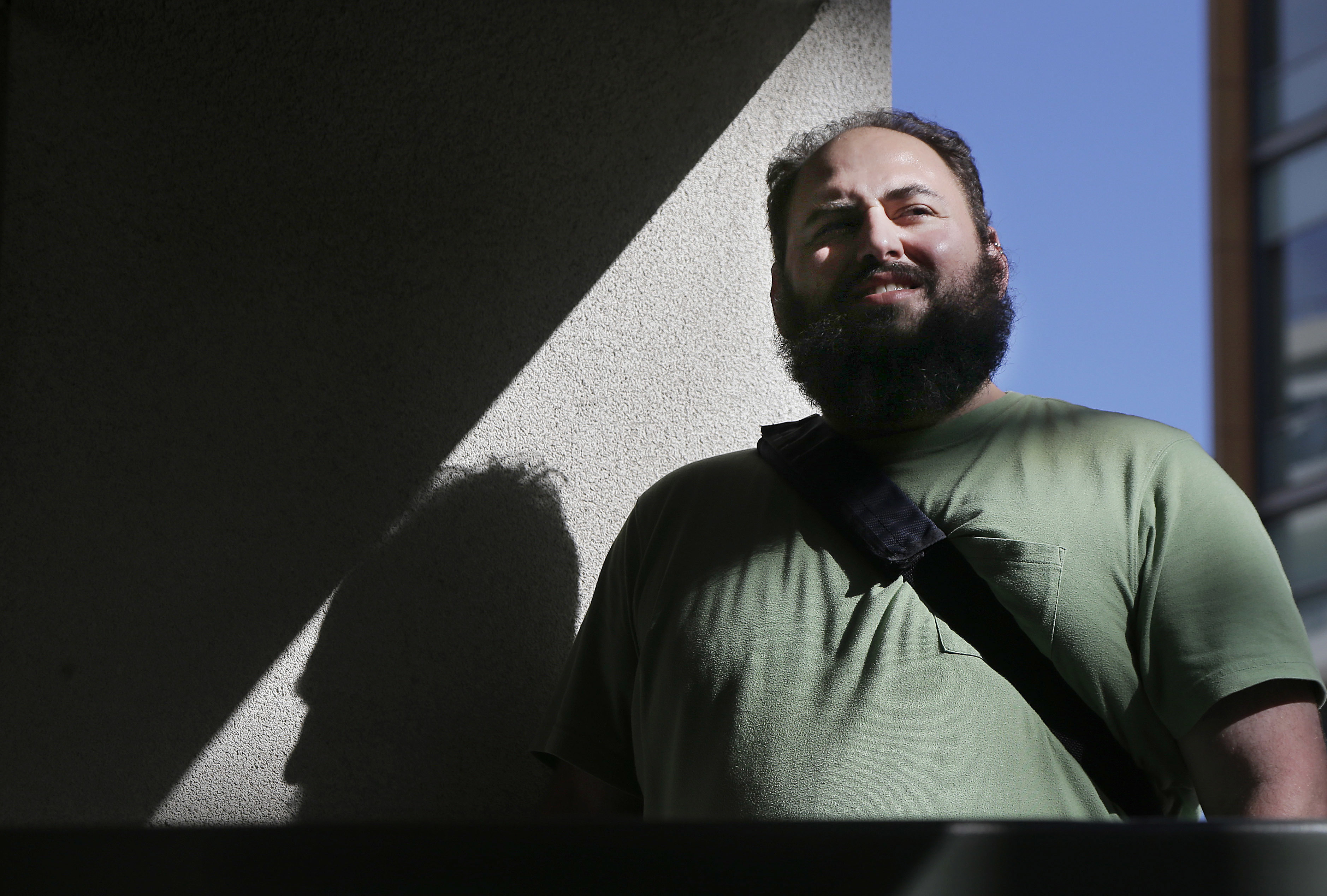 FILE - Software engineer Laurence Berland poses for a photo in San Francisco, California, March 7, 2017.