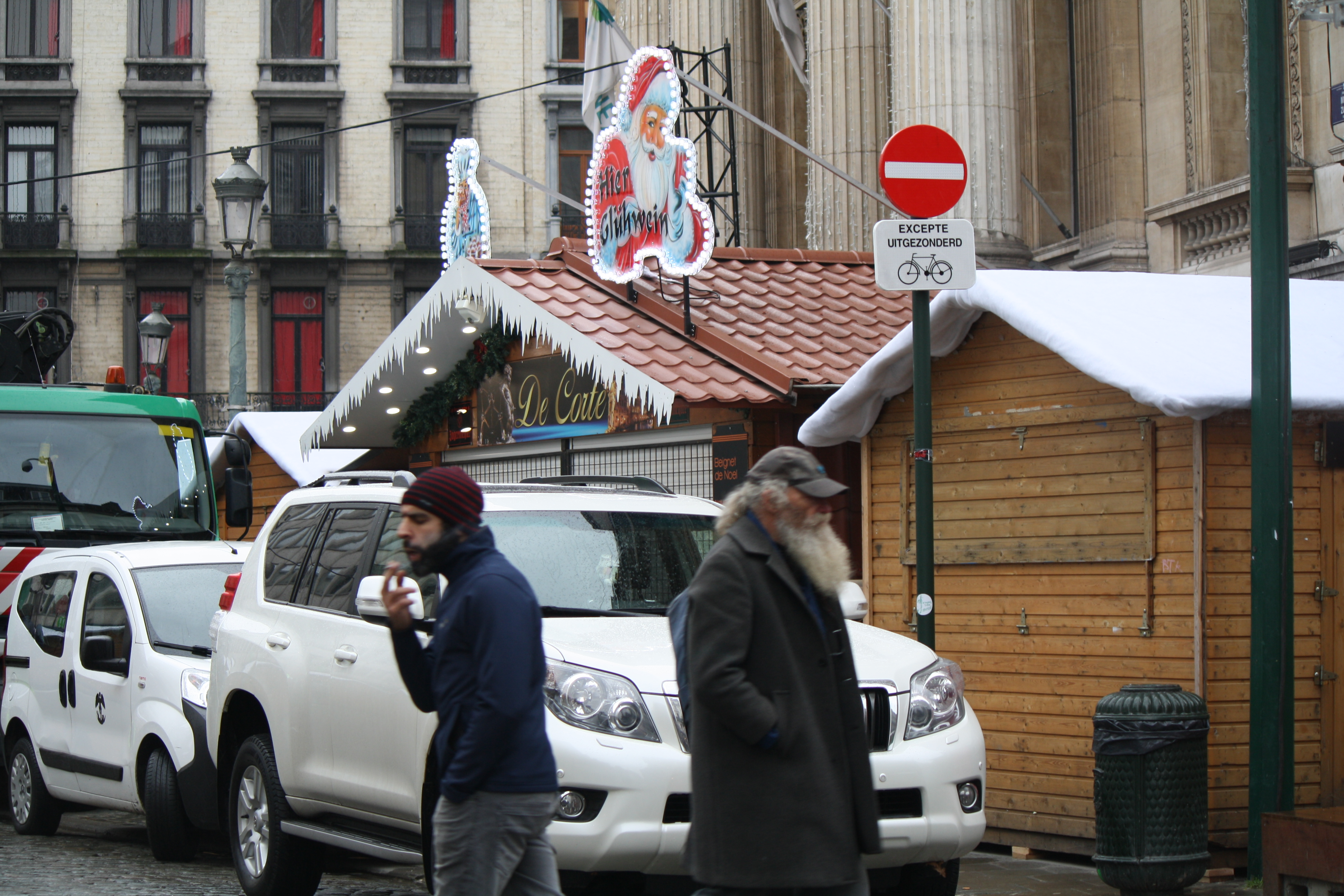 Despite remaining at the highest security alert levels, Brussels prepares for its annual Christmas markets, Nov. 24, 2015.