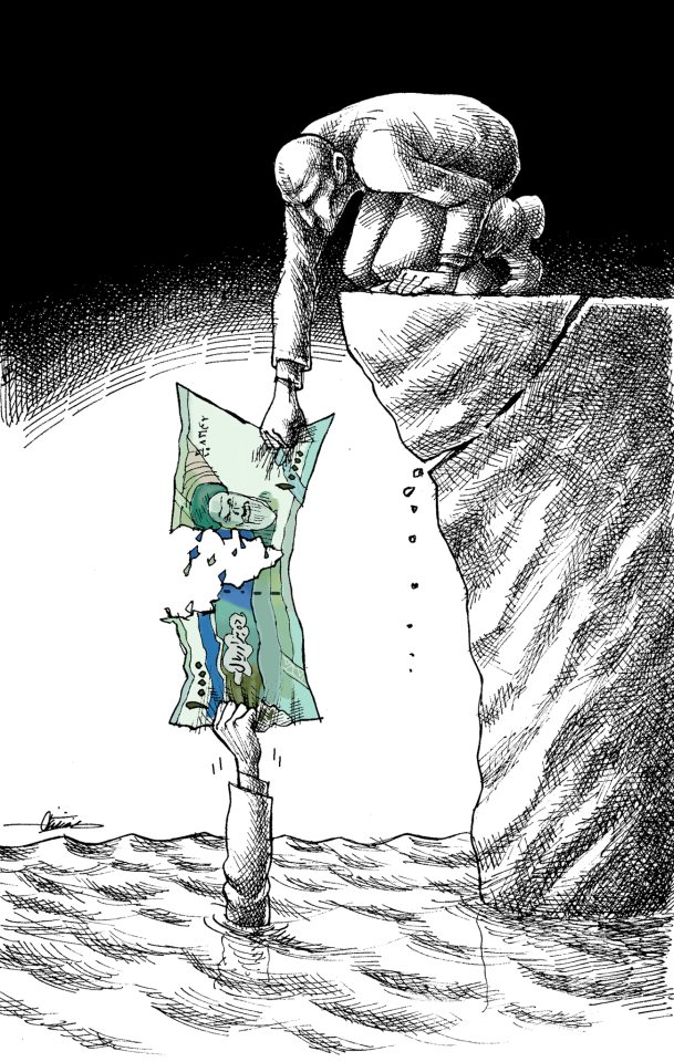 Mana Neyestani's cartoon about the fall of the Iranian rial has been widely circulated on social media.