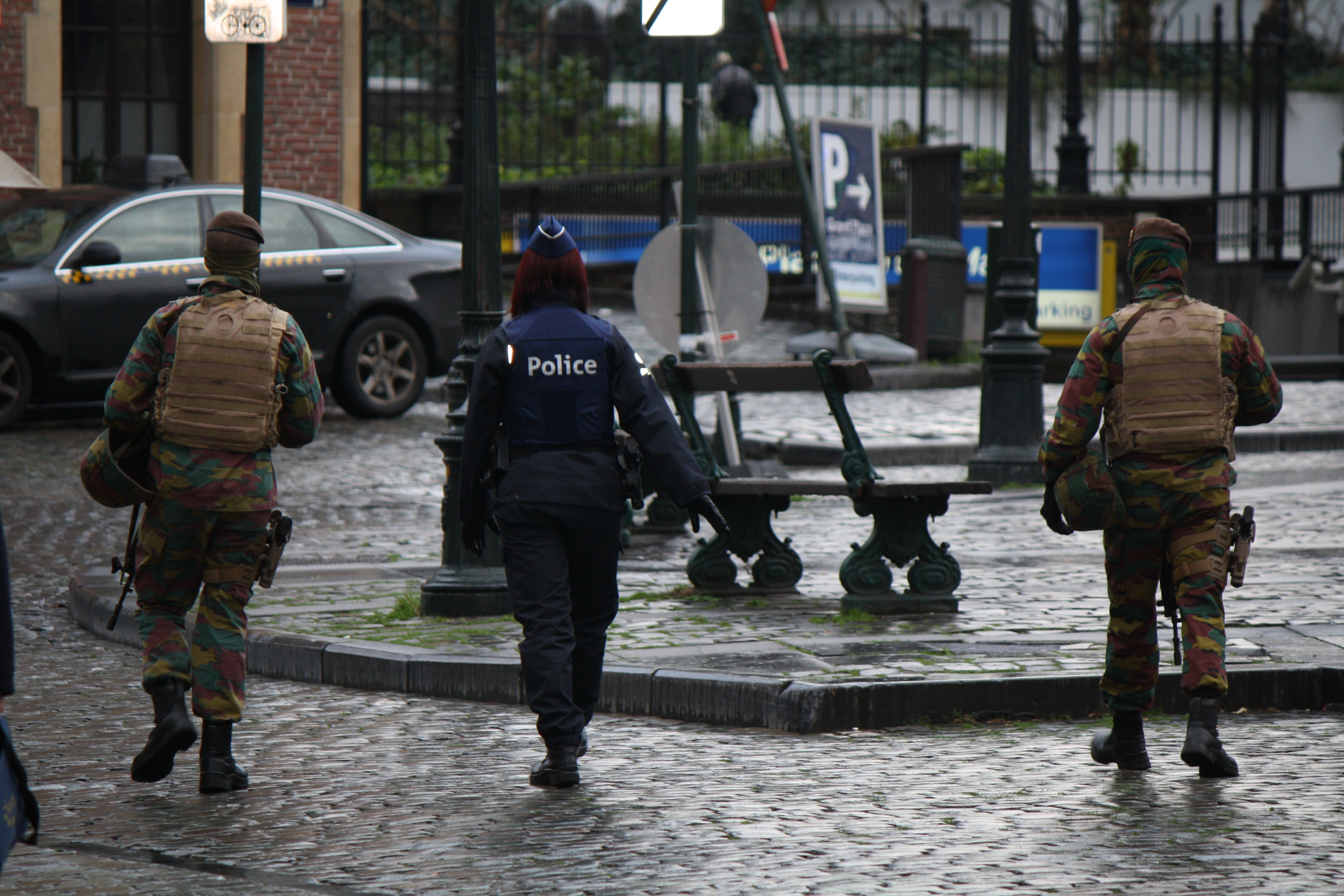 Security forces appear generally calm as they widen their search for men suspected of being involved in the Paris attacks, and possibly planning attacks in Brussels, Belgium, Nov. 22, 2015.