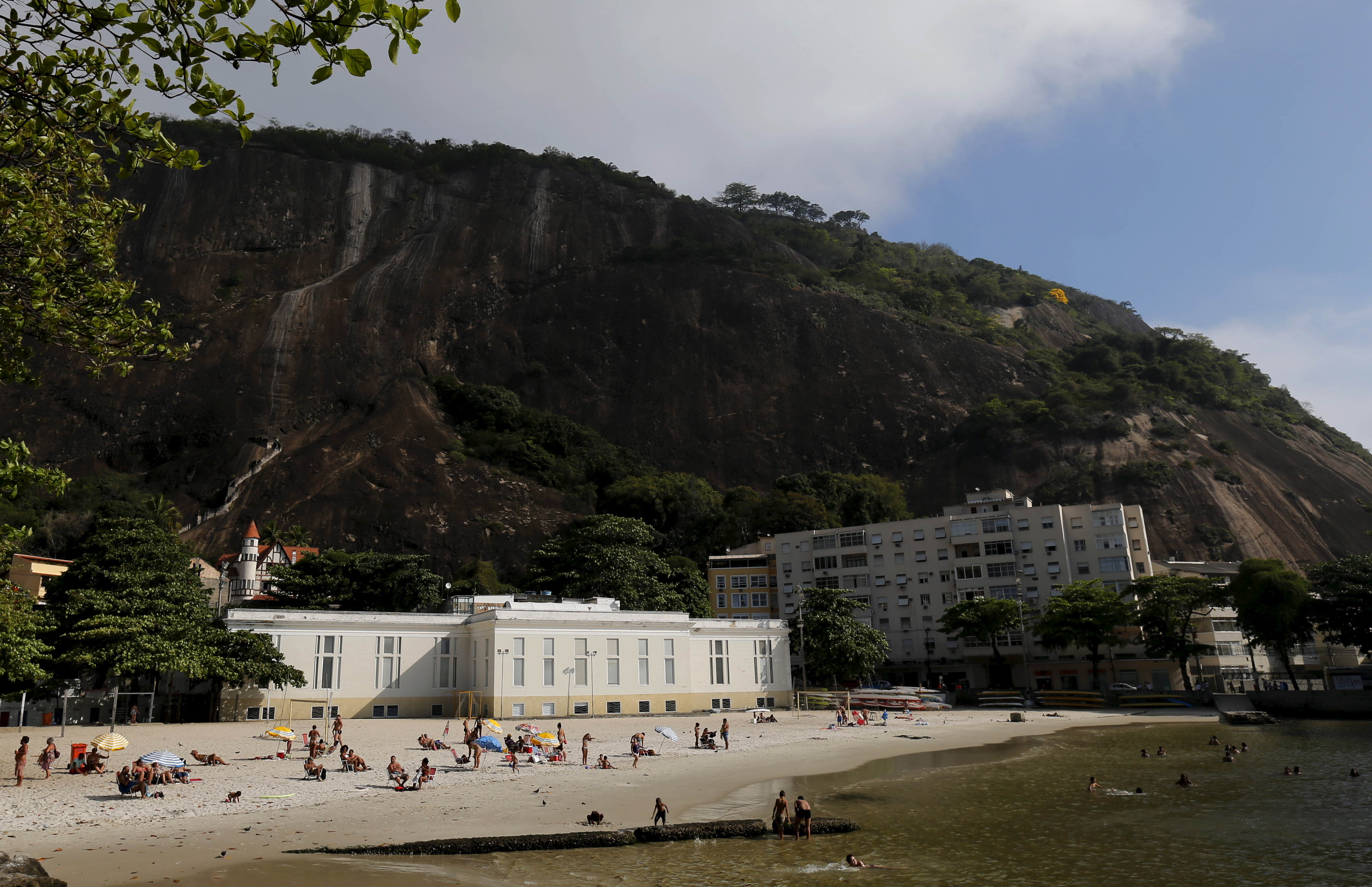 The building where Urca Casino operated until Brazil banned casinos, is pictured at Urca beach in Rio de Janeiro, Brazil, Sept. 22, 2015.
