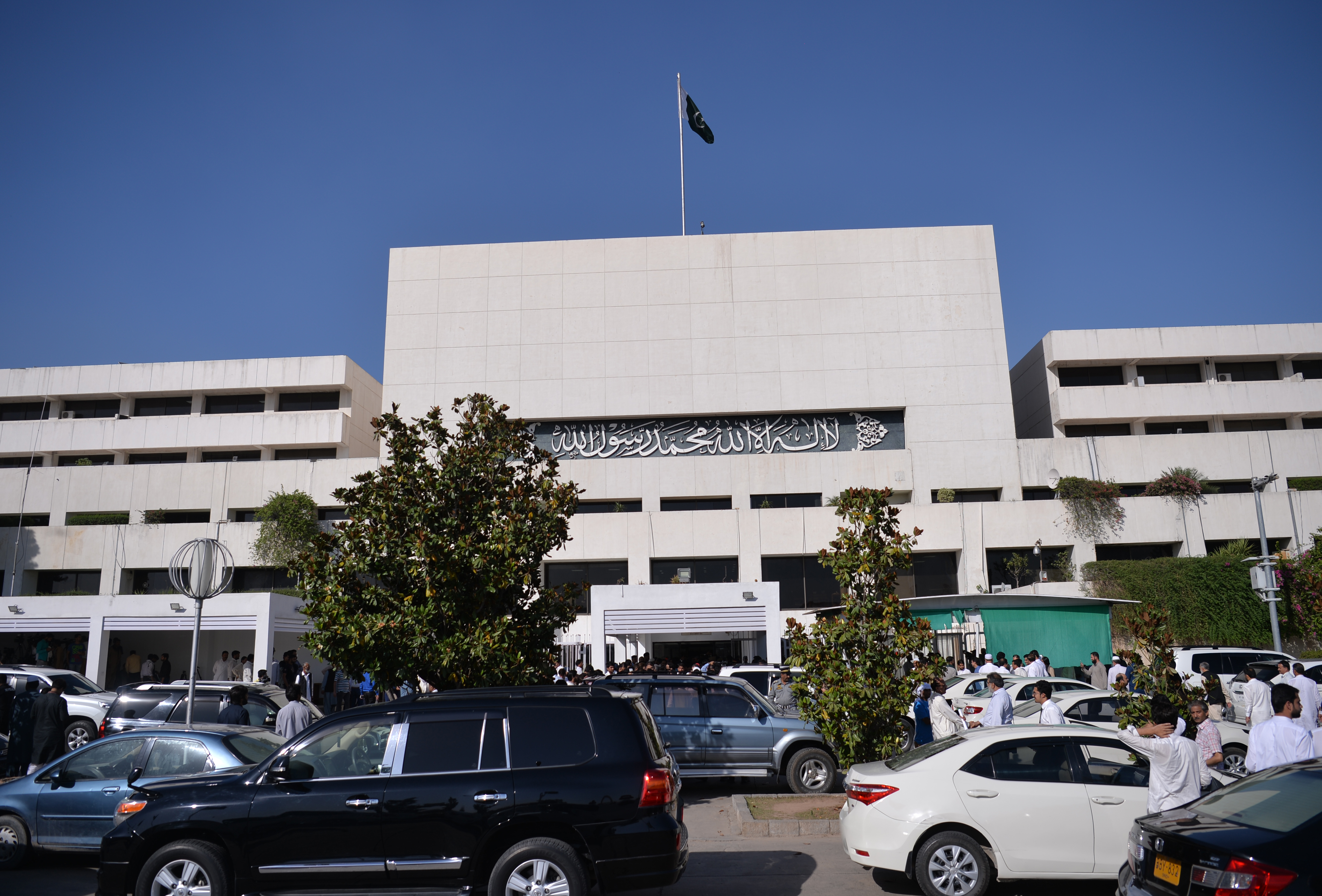 A general view of the Parliament House building during a session in the Pakistani capital Islamabad, May 23, 2018.