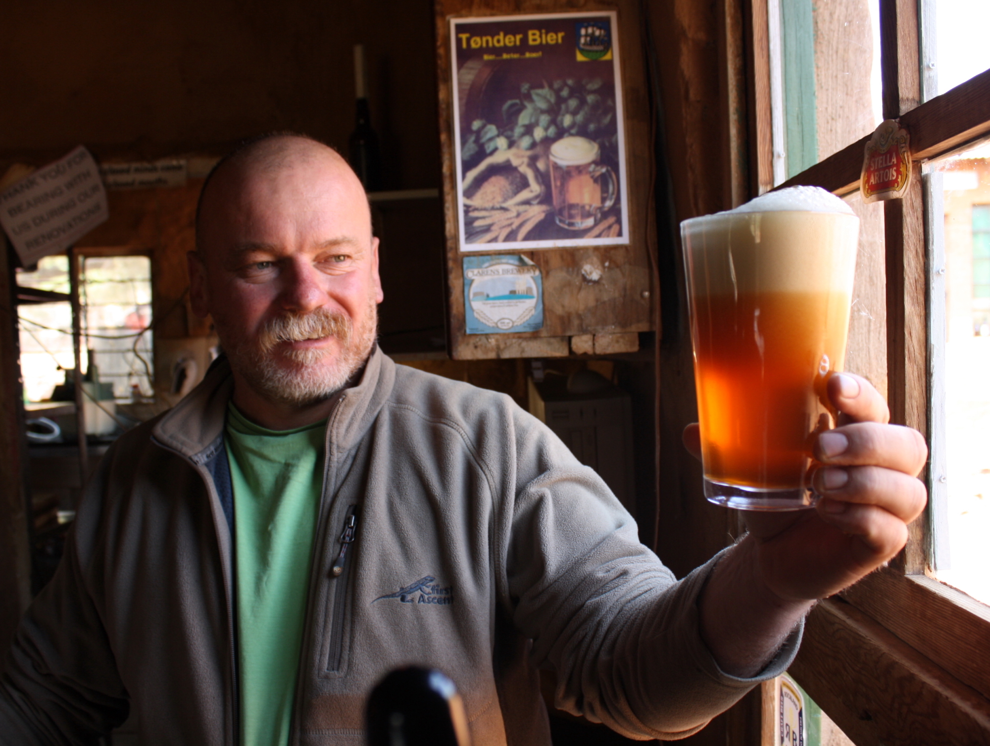 """Microbrewer Dirk van Tonder says consumers are attracted to craft beers because the products always have """"interesting stories"""" behind them. (Photo Credit: Darren Taylor)"""
