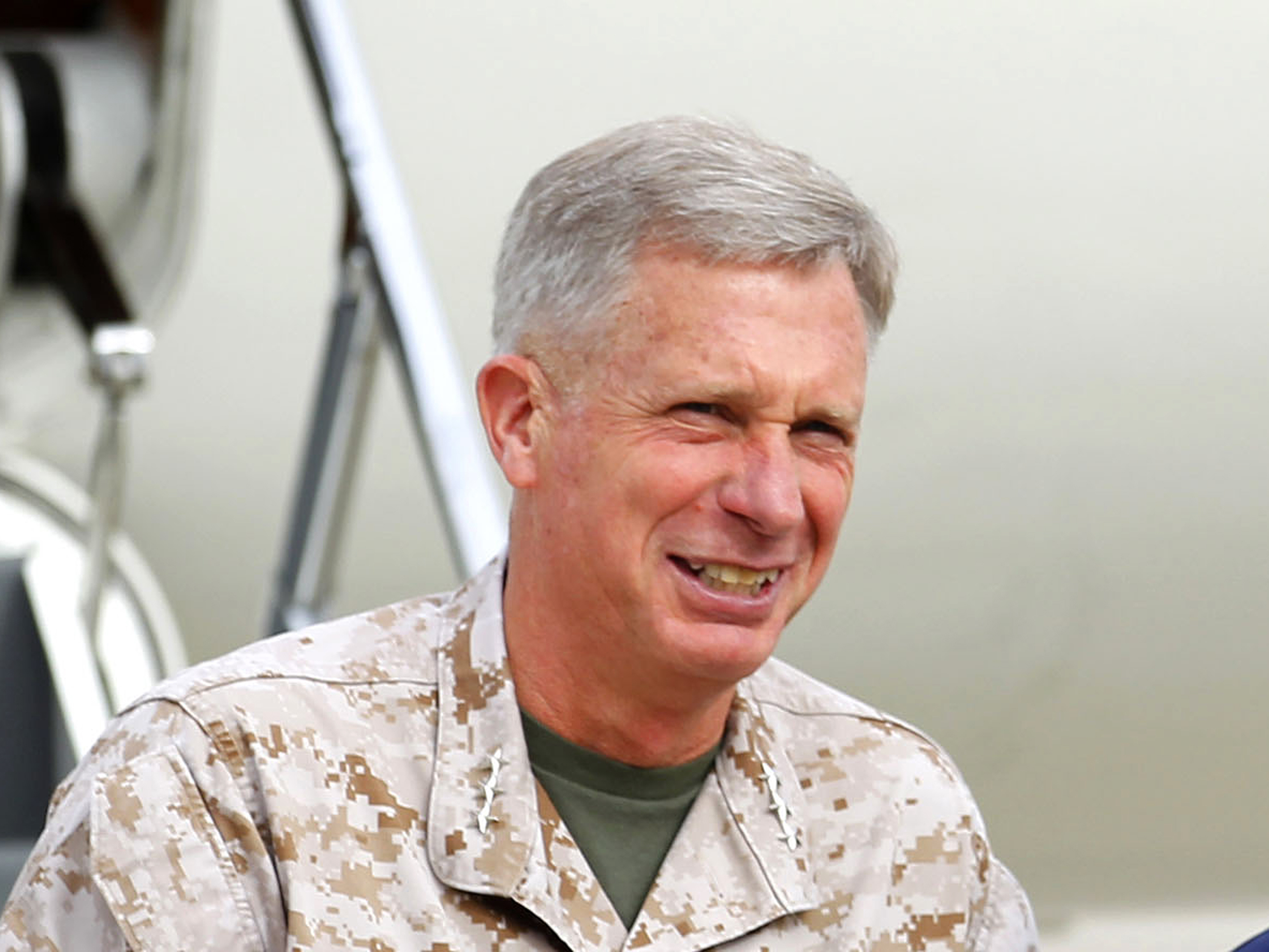 FILE - Marine Gen. Thomas Waldhauser is seen at Camp Pendleton, Calif., March 30, 2012. Last week in Washington, Waldhauser, the head of U.S. Africa Command, talked to lawmakers on the Senate Armed Services Committee