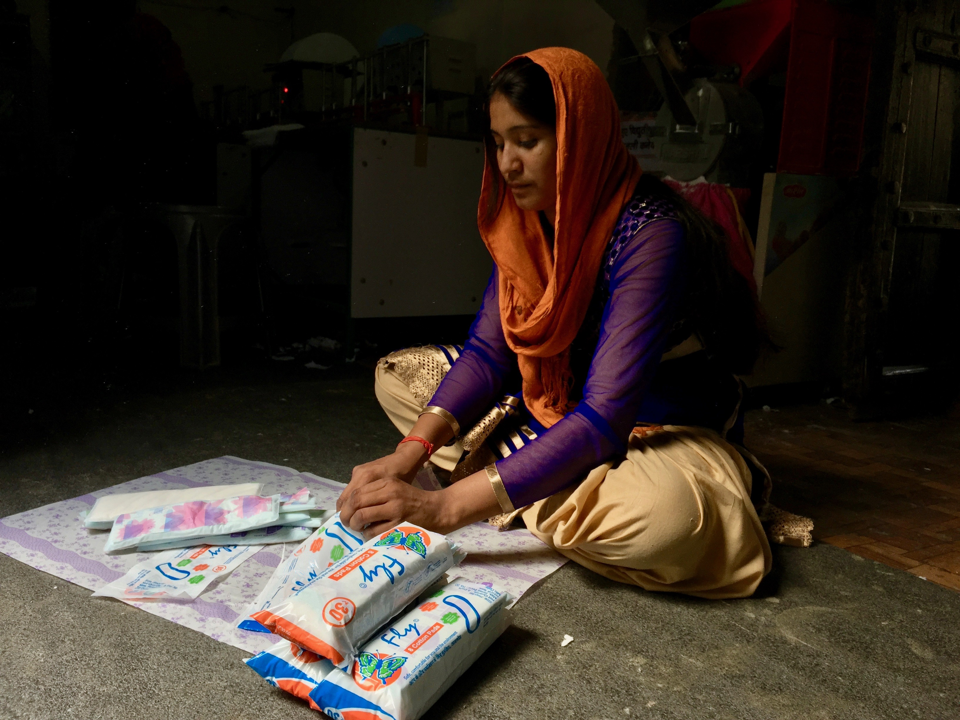 Women who worked in the small factory making sanitary napkins faced ridicule and contempt in the beginning from the village in India.
