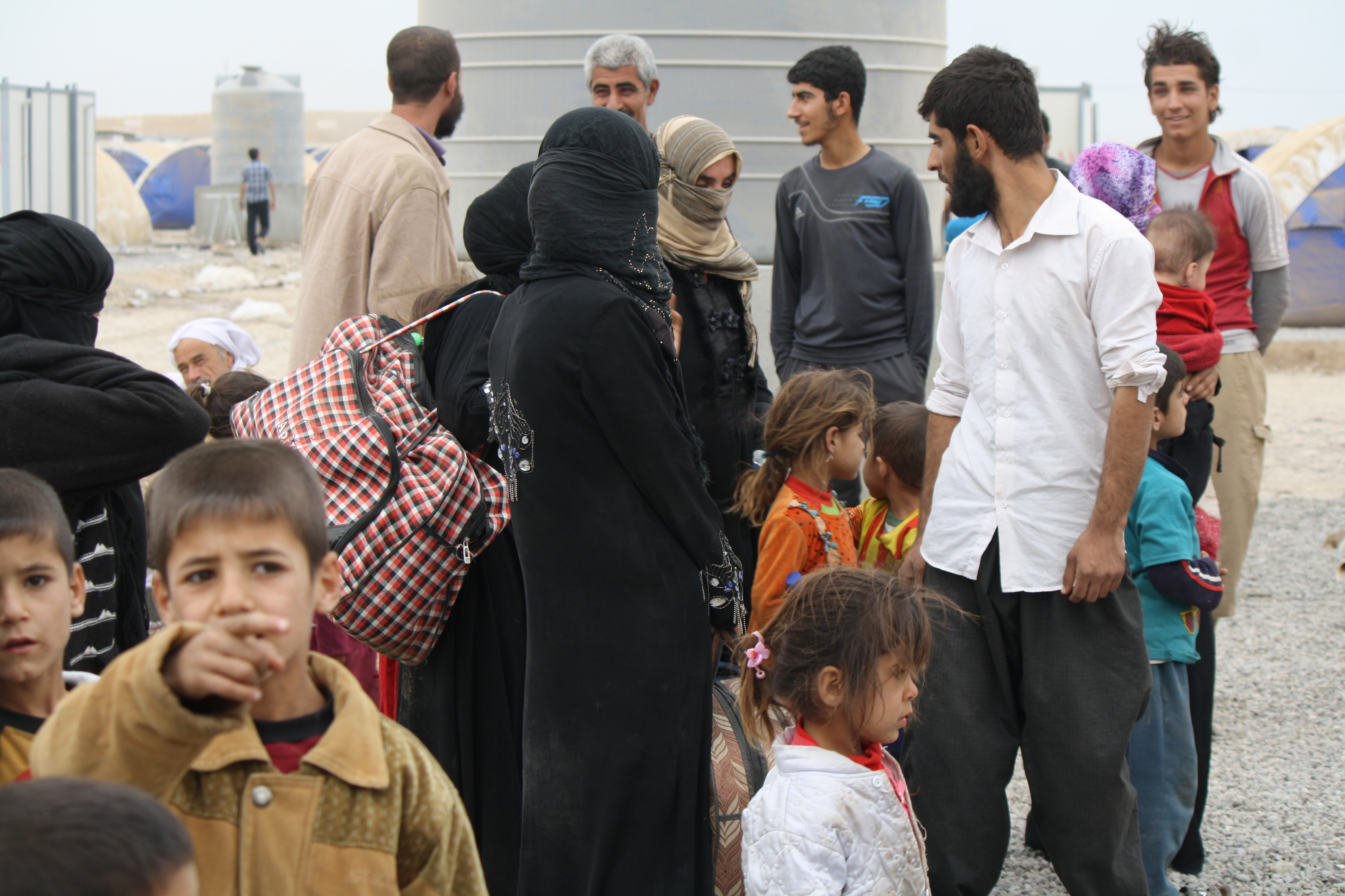 Groups of 20 to 40 people are arriving a few times a day or night, according to Peshmerga soldiers in the Khazir Camp in the Kurdish region of northern Iraq, Oct. 28, 2016.