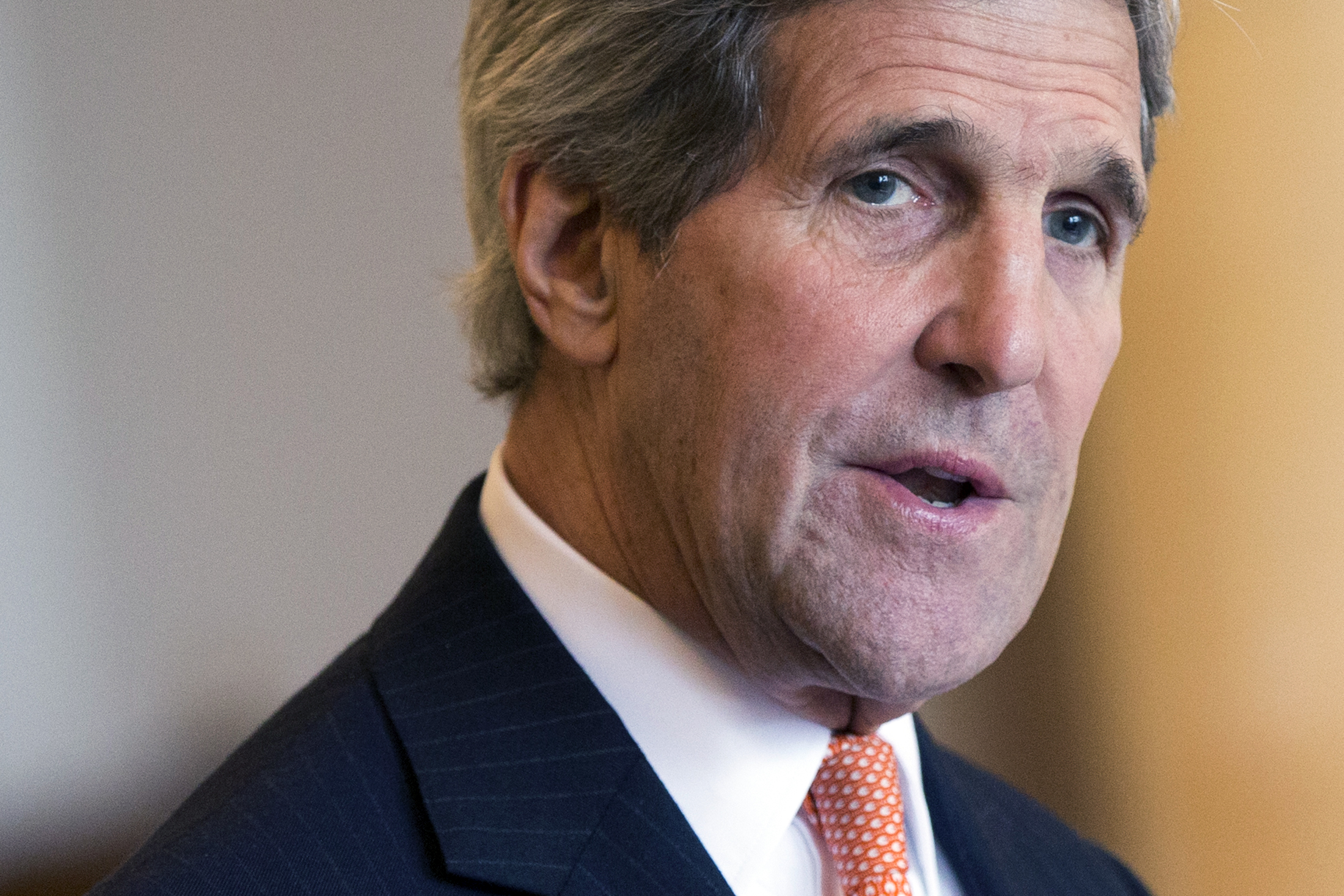 U.S. Secretary of State John Kerry delivers remarks in Montreux March 4, 2015. Significant gaps and important choices remain in talks on Iran's nuclear programme, Kerry said on Wednesday, after completing a round of talks over three days with Iranian...