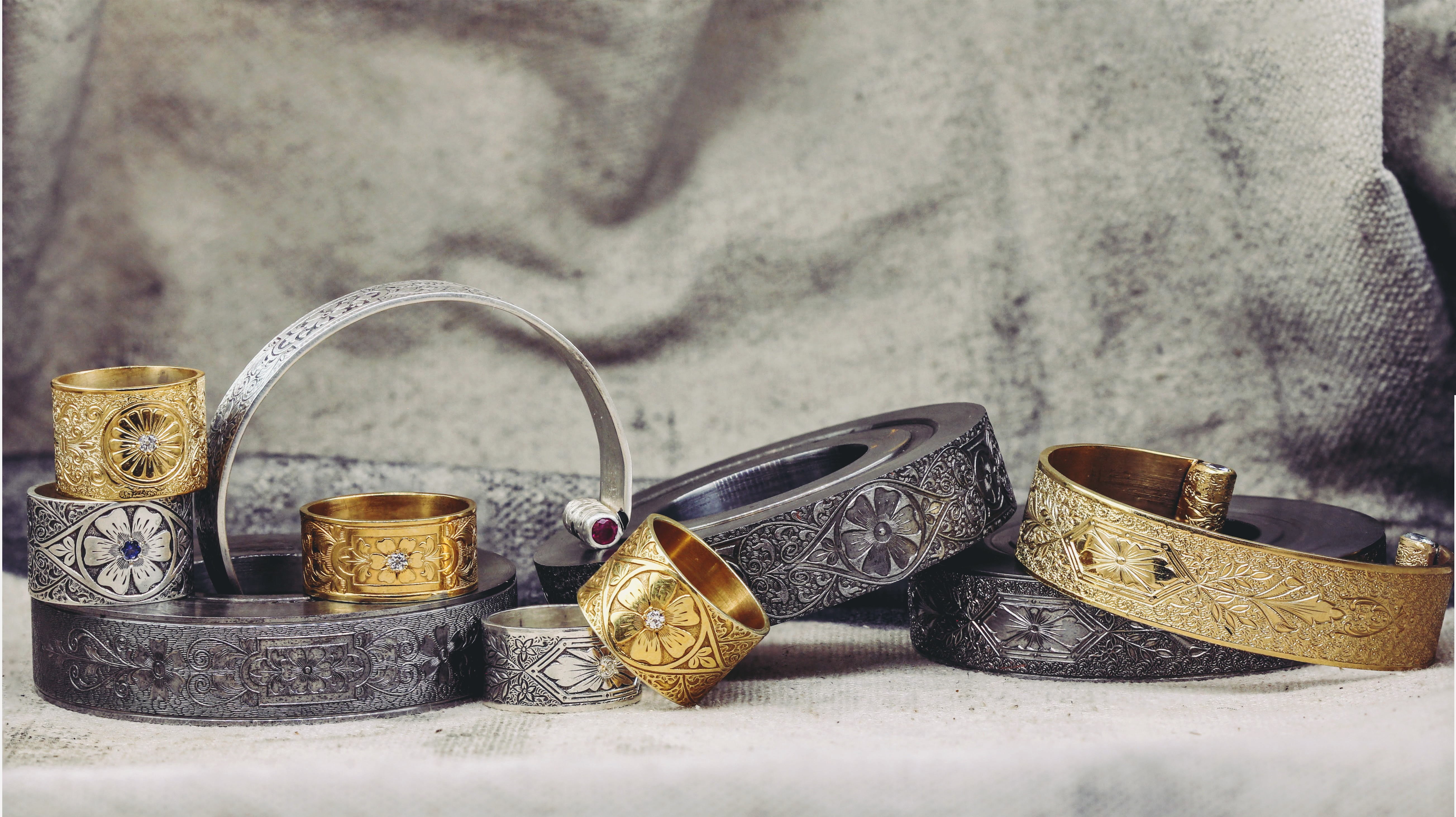 Antique-style jewelry, created with traditional molds and techniques, captures a sense of history. (Courtesy Hugo Kohl)