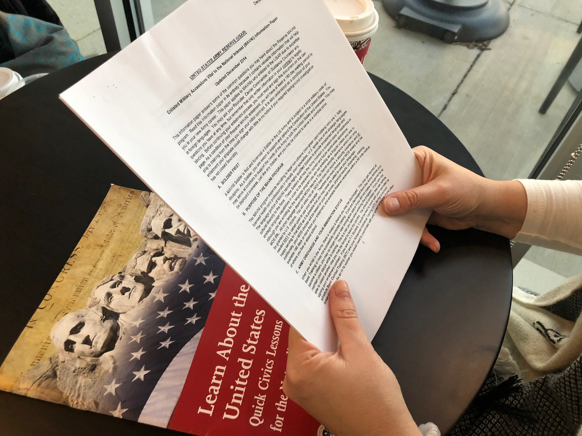 A.M., who asked not to be identified because she is afraid of deportation, enlisted in the Army in March 2015 under the Military Accessions Vital to the National Interest program or MAVNI.