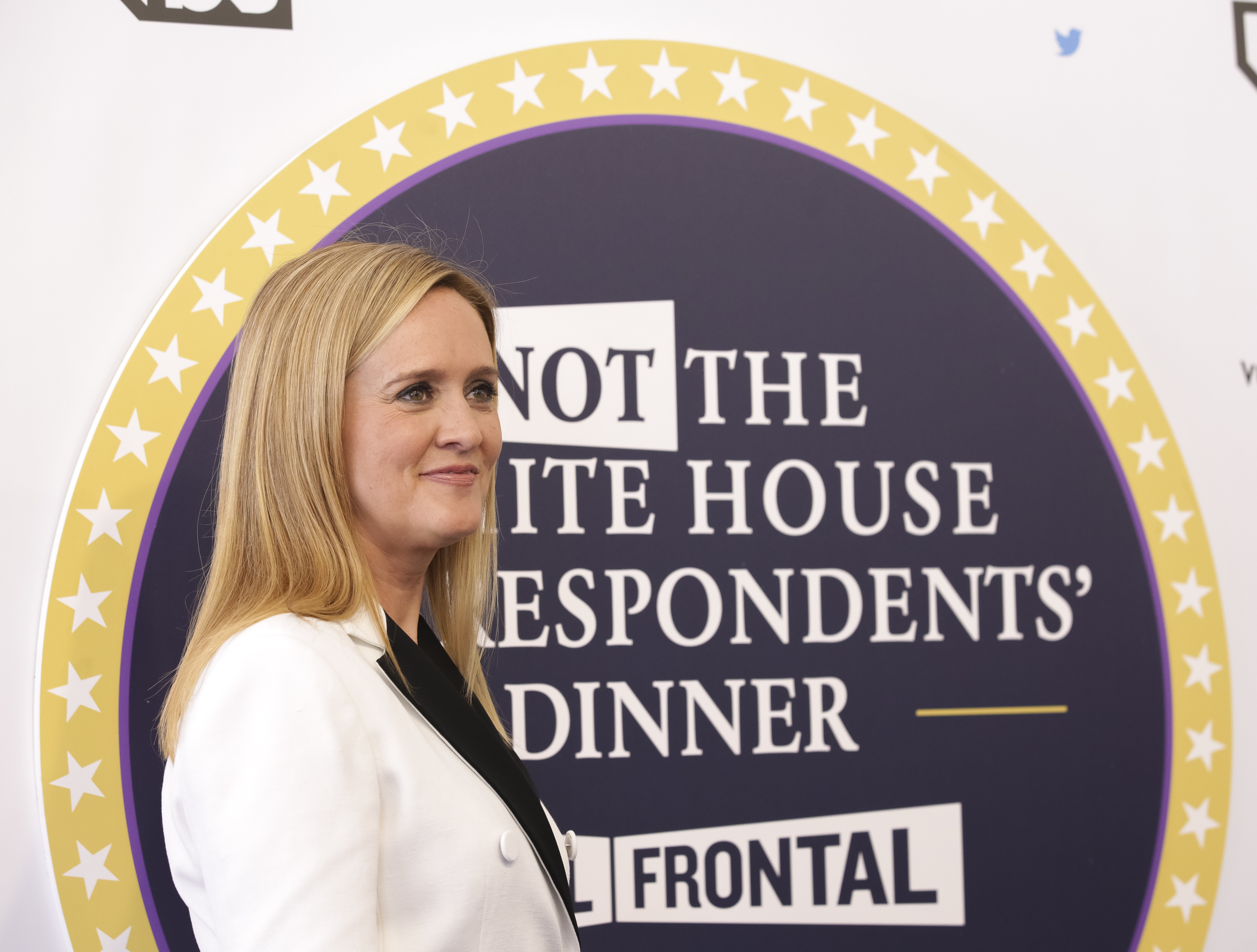 "Samantha Bee arrives for ""Full Frontal with Samantha Bee's Not the White House Correspondents' Dinner"" at DAR Constitution Hall in Washington, April 29, 2017."