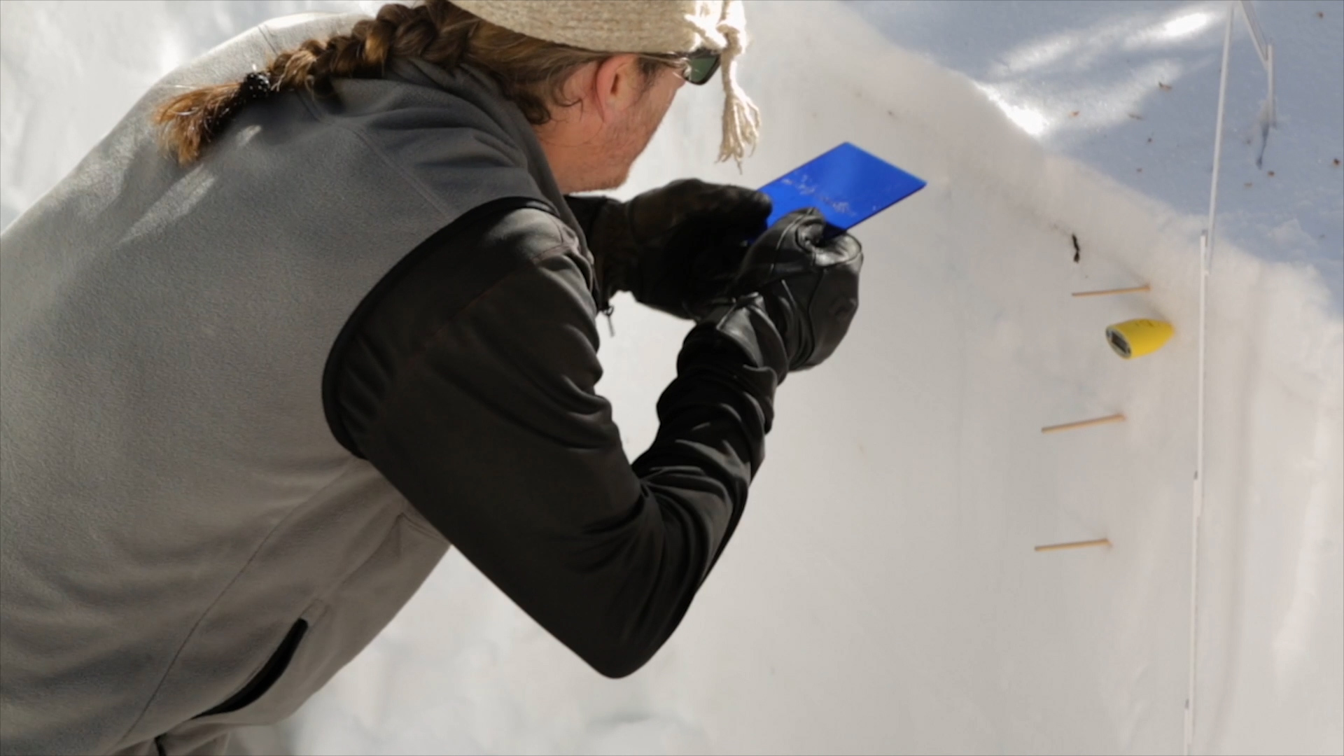 Researchers currently gather snow data the old-fashioned way - in the field.