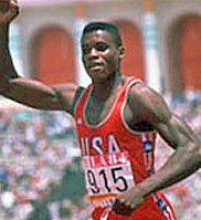 Carl Lewis won five gold medals and still holds the record for the indoor long jump.