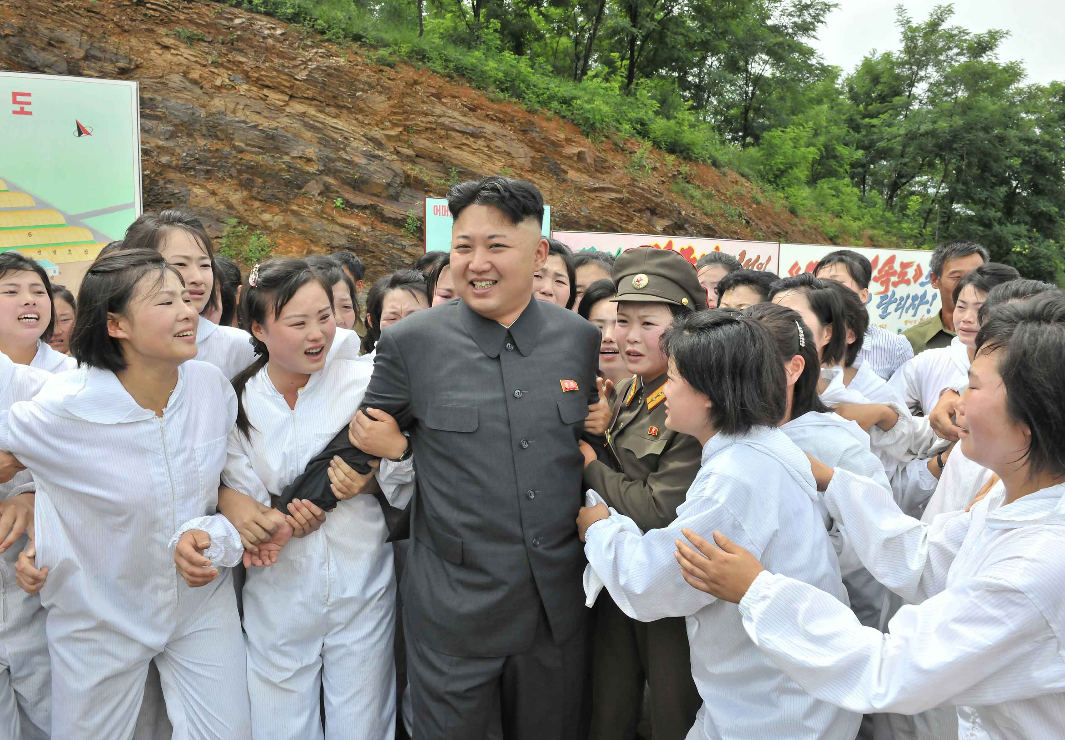 North Korean leader Kim Jong-un visits a Mushroom Farm in this undated photo released by North Korea's Korean Central News Agency (KCNA) in Pyongyang July 16, 2013.