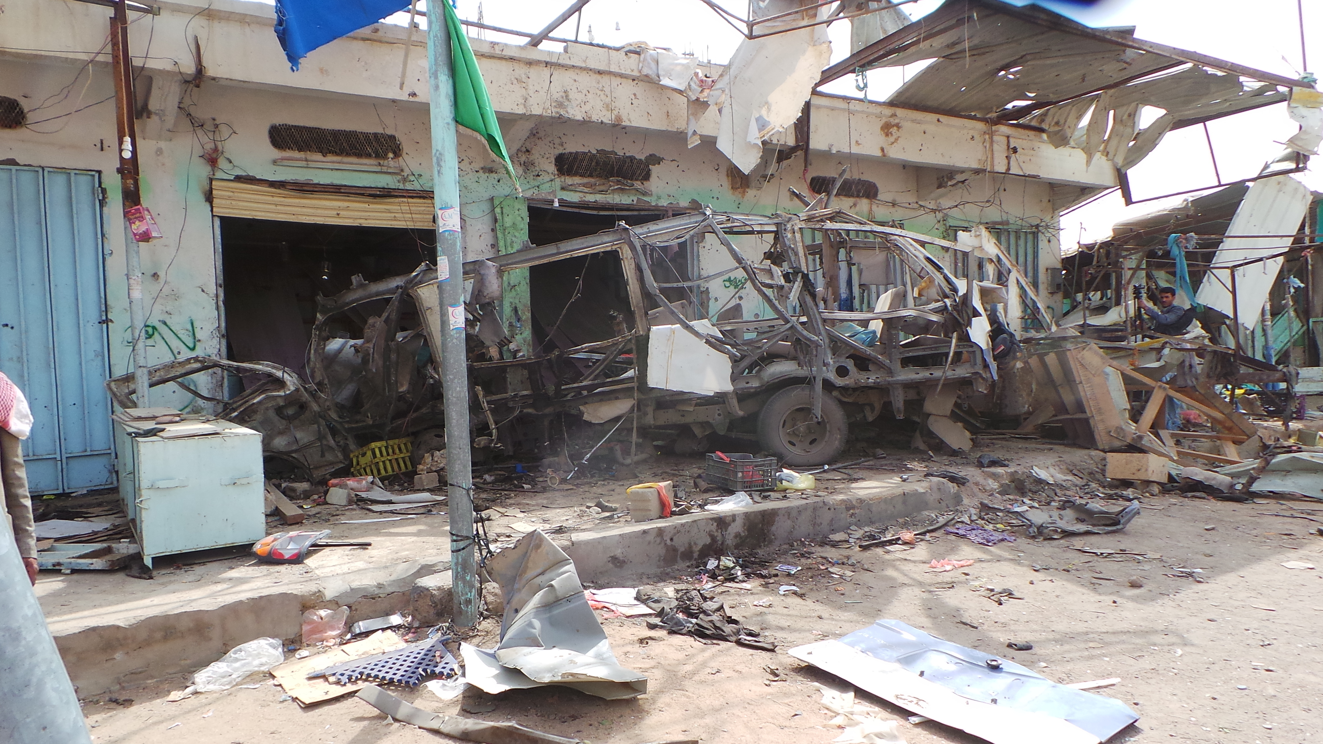 The wreckage of a bus remains at the site of an airstrike in Saada, Yemen, on Aug. 10, 2018. Yemen's Shiite rebels are backing a United Nations' call for an investigation into a Saudi-led coalition airstrike in the country's north that killed dozens ...