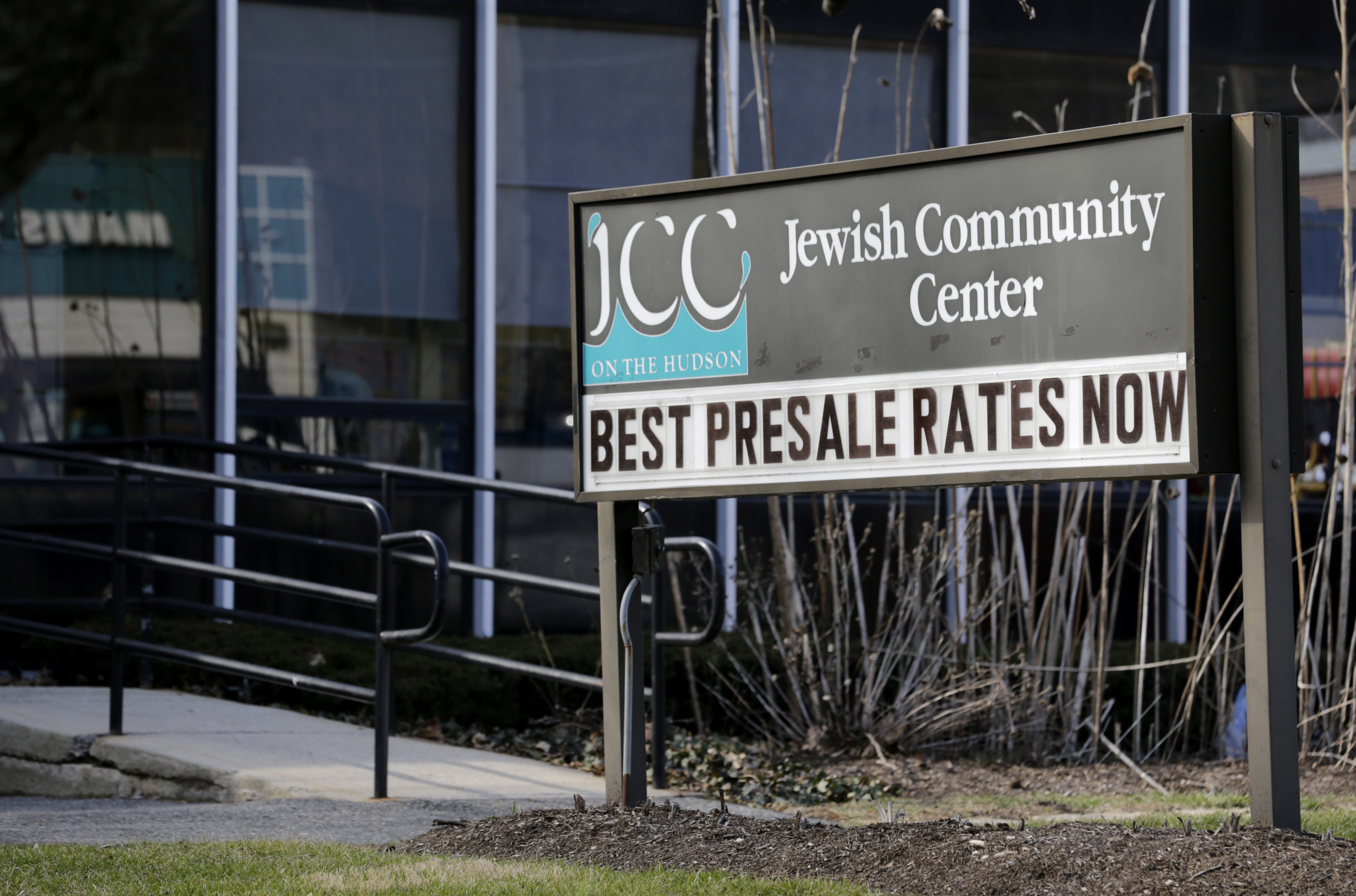 FILE - The Jewish Community Center is seen in Tarrytown, N.Y., Feb. 28, 2017. The latest in a wave of bomb threat hoaxes called into more than 20 Jewish community centers and schools across the country has again put administrators in the position of ...