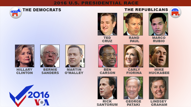 U.S. presidential candidates, as of June 1, 2016