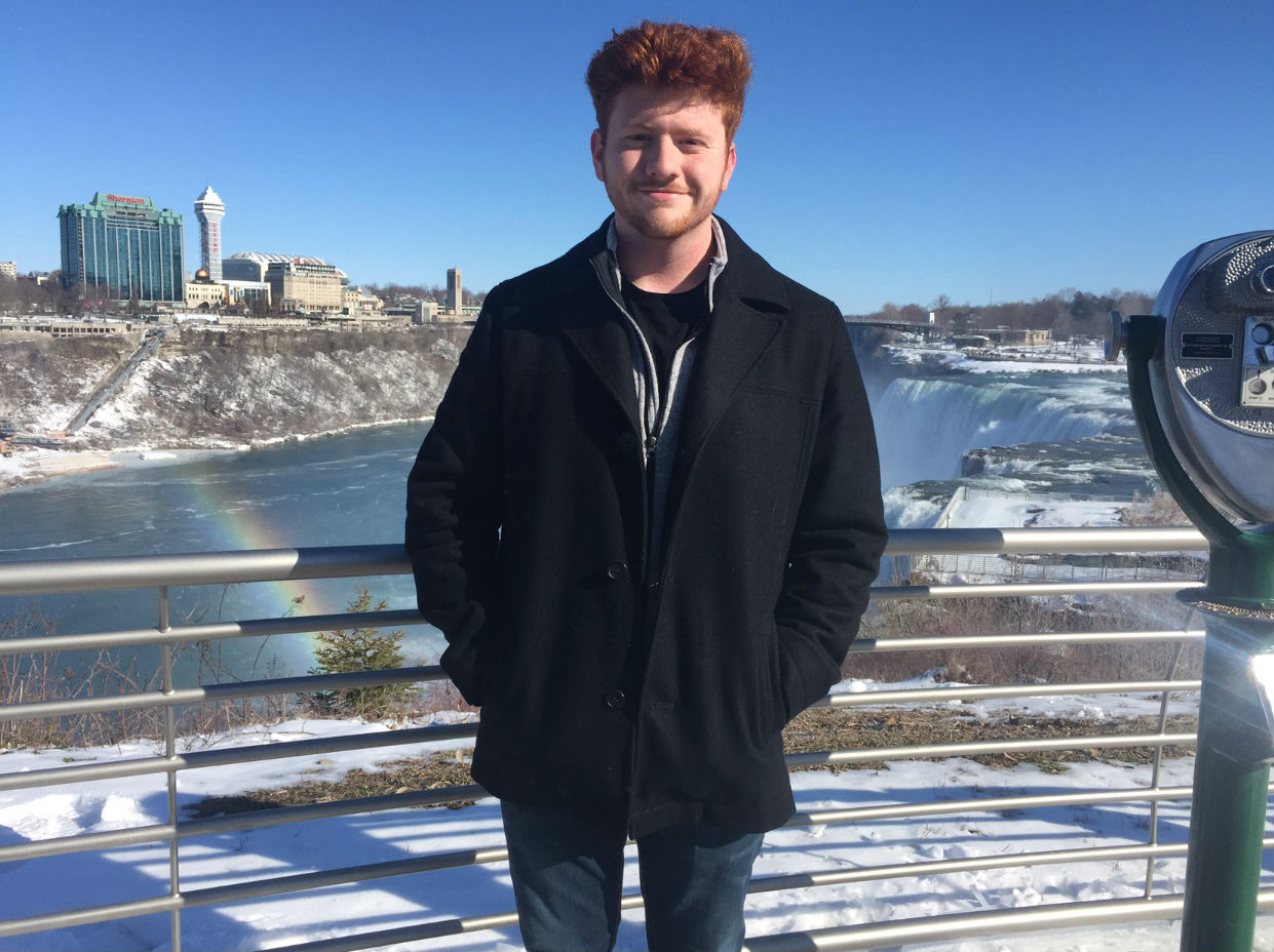 Rylee Cupp poses for a photo on the US side of Niagara Falls on March 4, 2018.