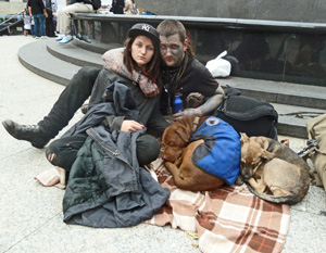Occupy Wall Street protesters Jason and Oksana are grateful for community and the chance to dream.
