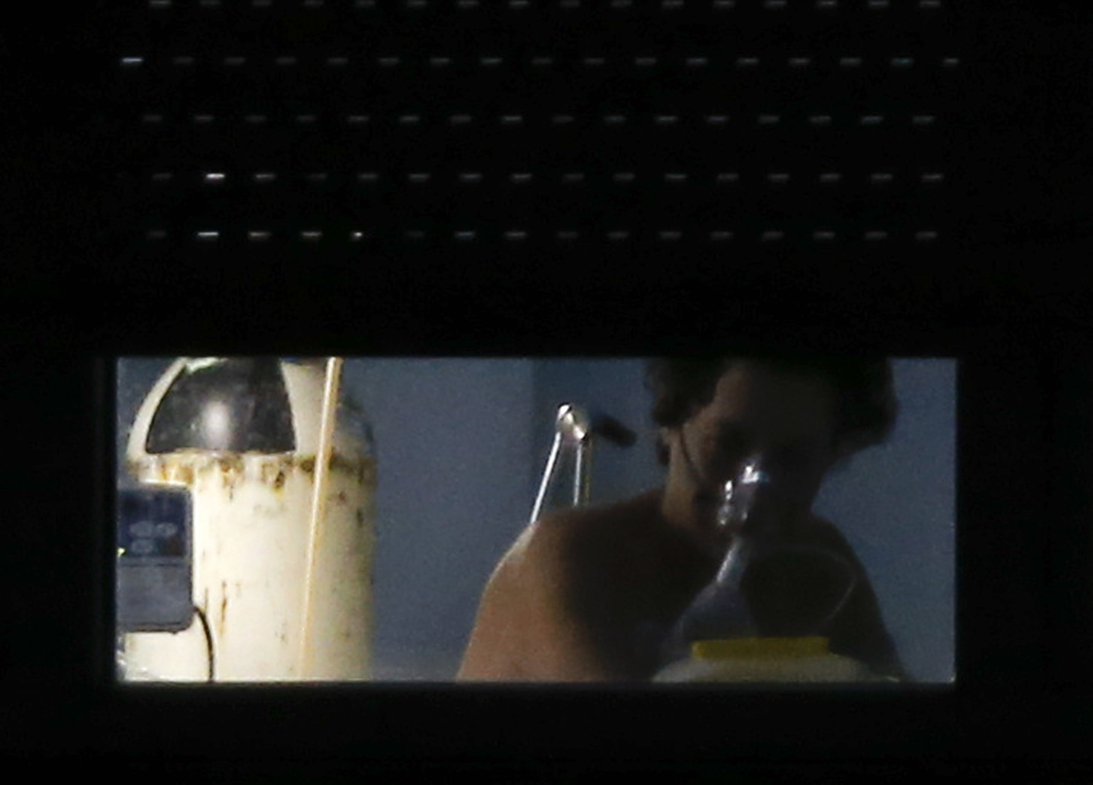 Teresa Romero, the Spanish nurse who contracted Ebola, is seen inside her room at an isolation ward on the sixth floor at Madrid's Carlos III Hospital, Oct. 11, 2014.