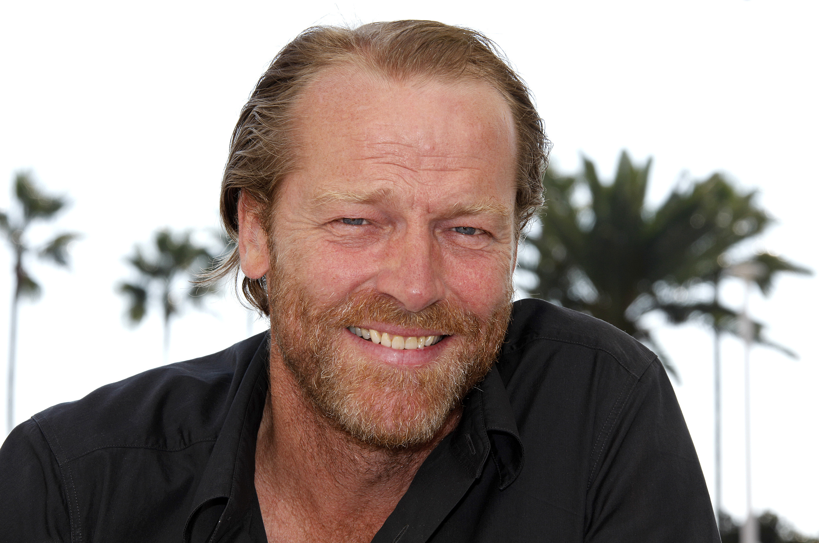 """Actor Iain Glen poses while promoting the television series """"Jack Taylor"""" in Cannes, France, October 3, 2011."""