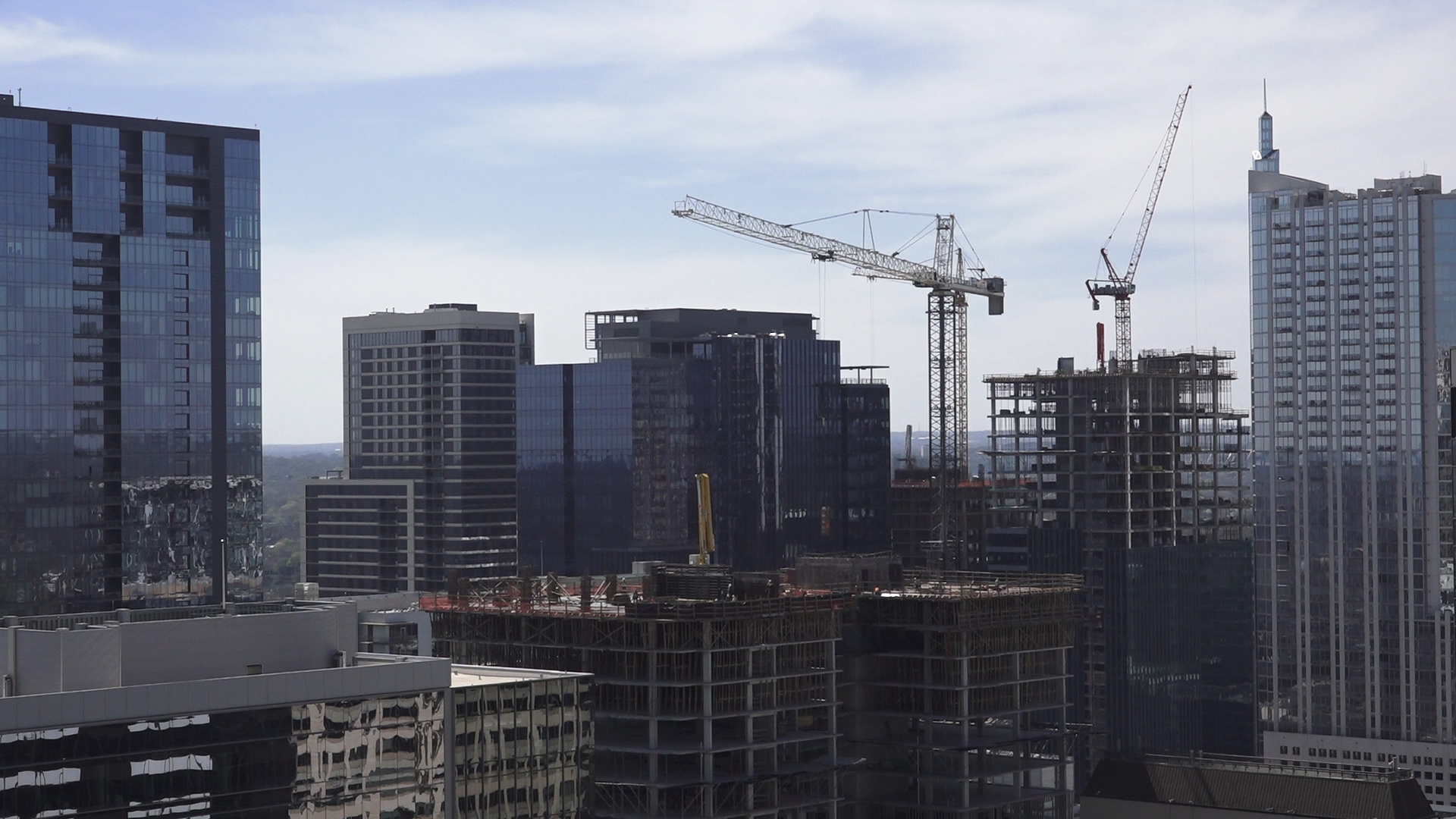 Construction in downtown Austin is one sign of the Texas capital's growth.