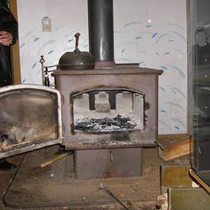 Old-style wood stoves like this one can still be found in U.S. homes.