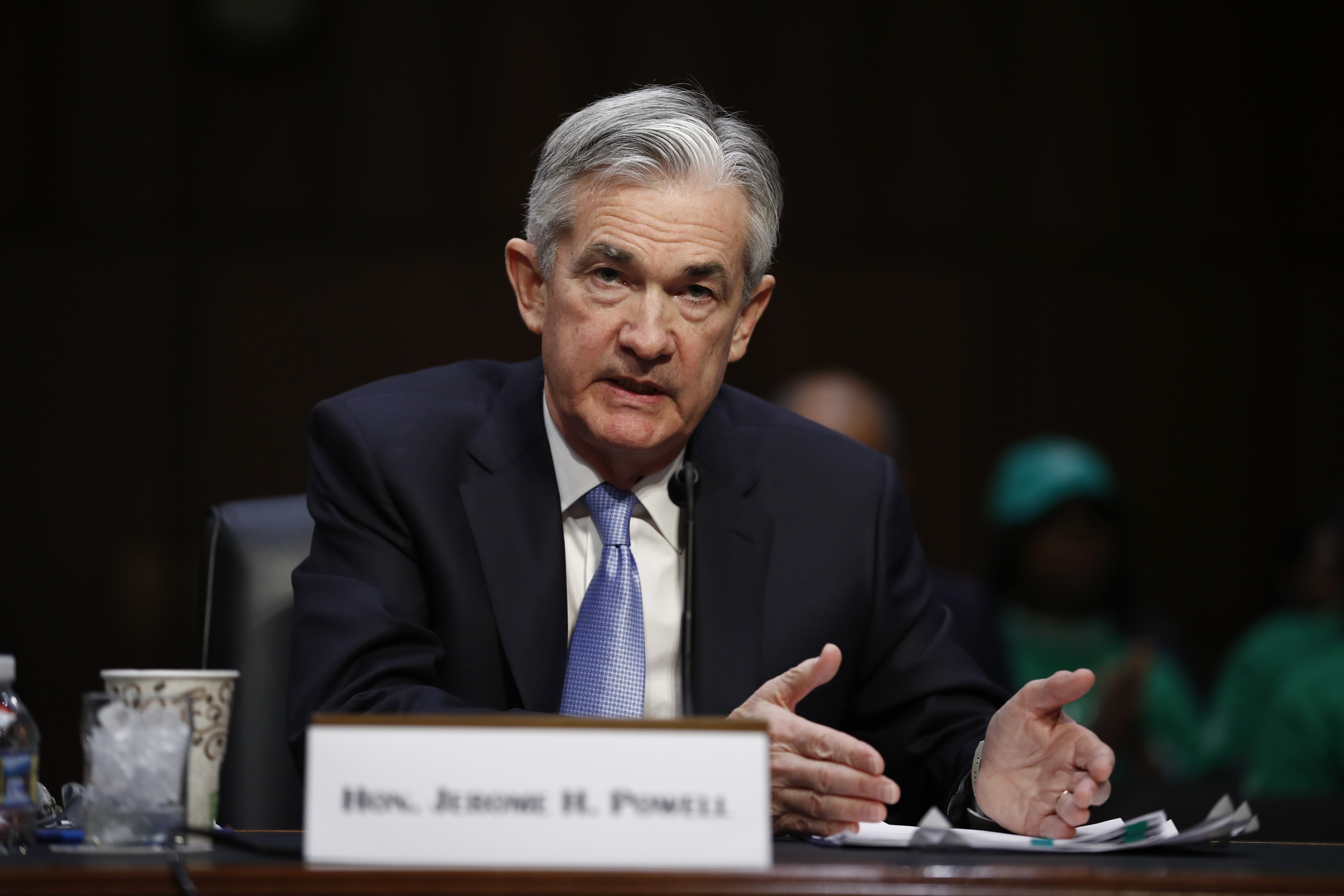 Jerome Powell, President Donald Trump's nominee for chairman of the Federal Reserve, testifies during a Senate Banking, Housing, and Urban Affairs Committee confirmation hearing on Capitol Hill, Nov. 28, 2017.
