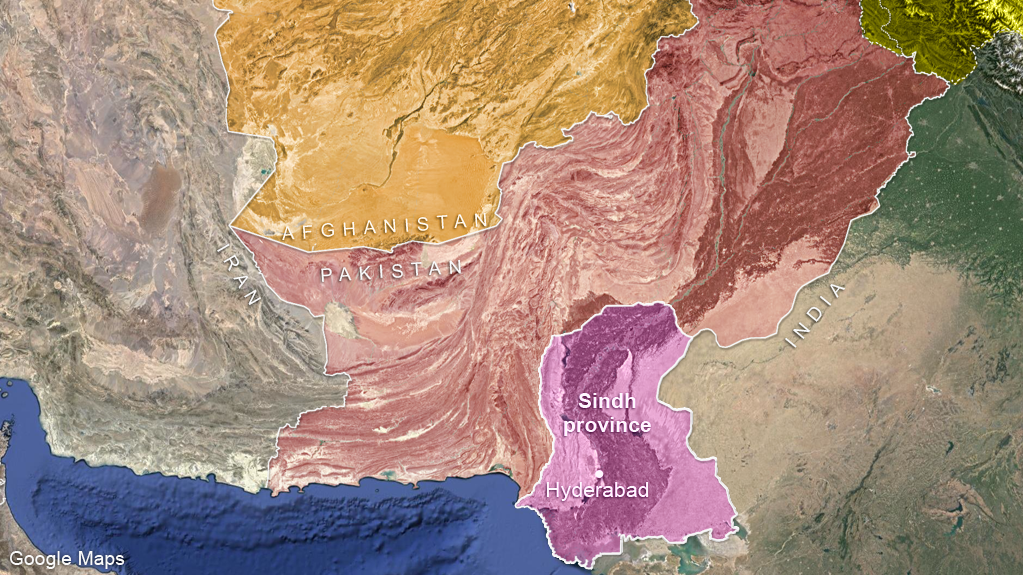 Sindh province, Pakistan, and the Afghan-Pakistan border