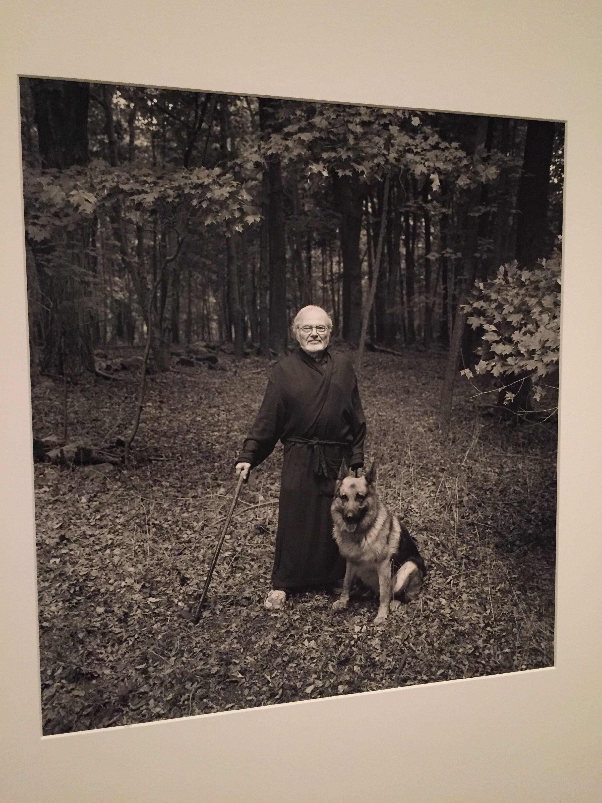 In this portrait, beloved children's book author Maurice Sendak poses with his dog, Herman. (J.Taboh/VOA)