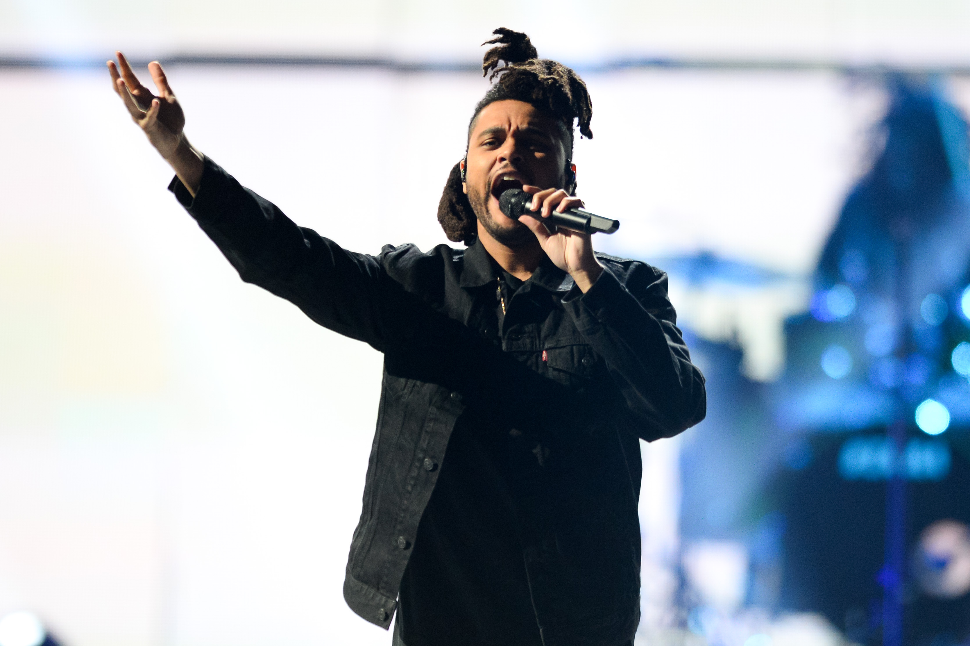 The Weeknd performs at Day 2 of the 2015 iHeartRadio Music Festival at the MGM Grand Garden Arena on  Sept. 19, 2015 in Las Vegas, NV.