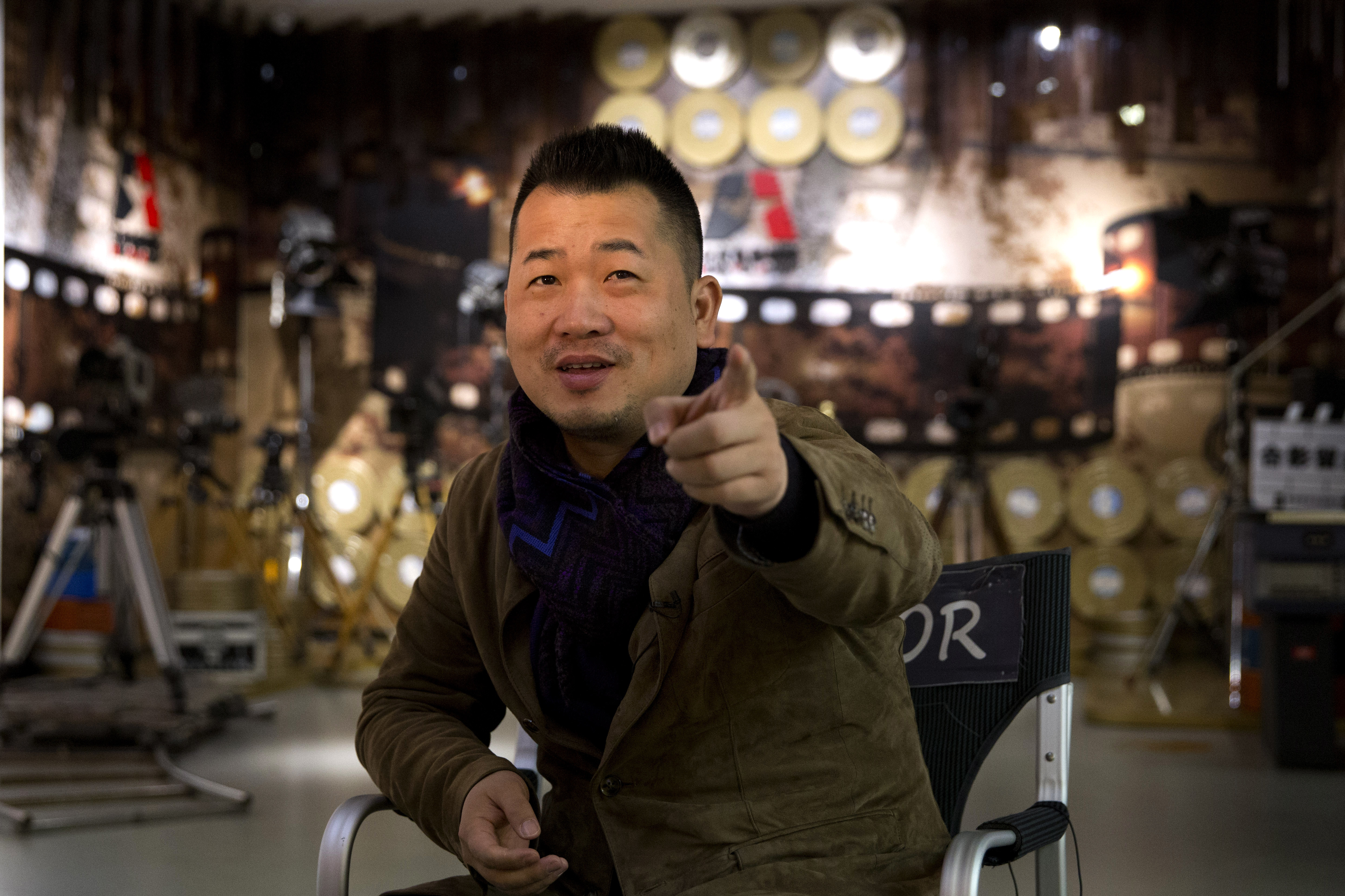 """Wei Tie, the director of the state-backed documentary film """"Amazing China"""" speaks during an interview at the Beijing Film Academy in Beijing, March 22, 2018."""