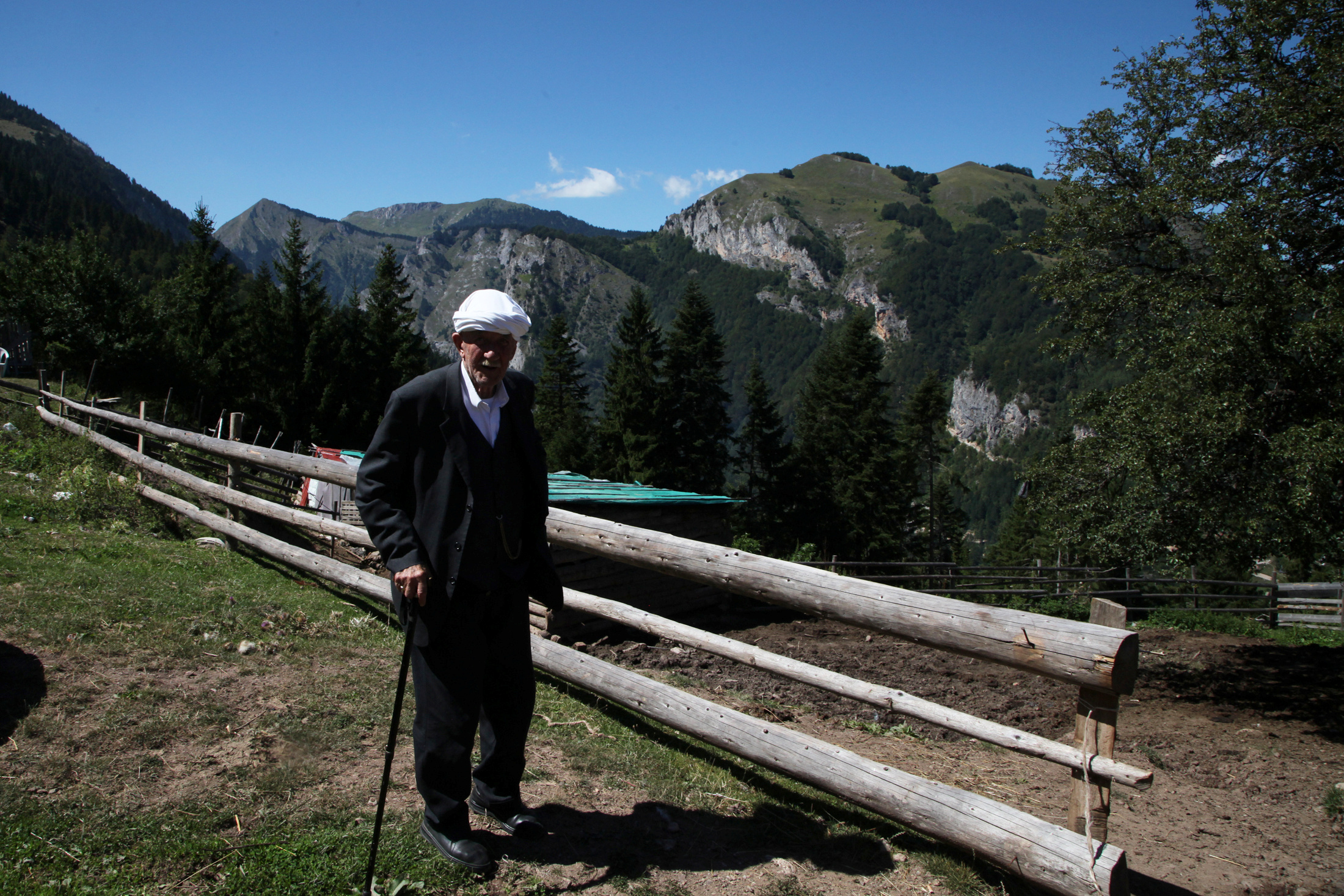 A man is pictured in Liqenat/The Lakes in Kosovo, near the border with Montenegro, Aug. 28, 2016.