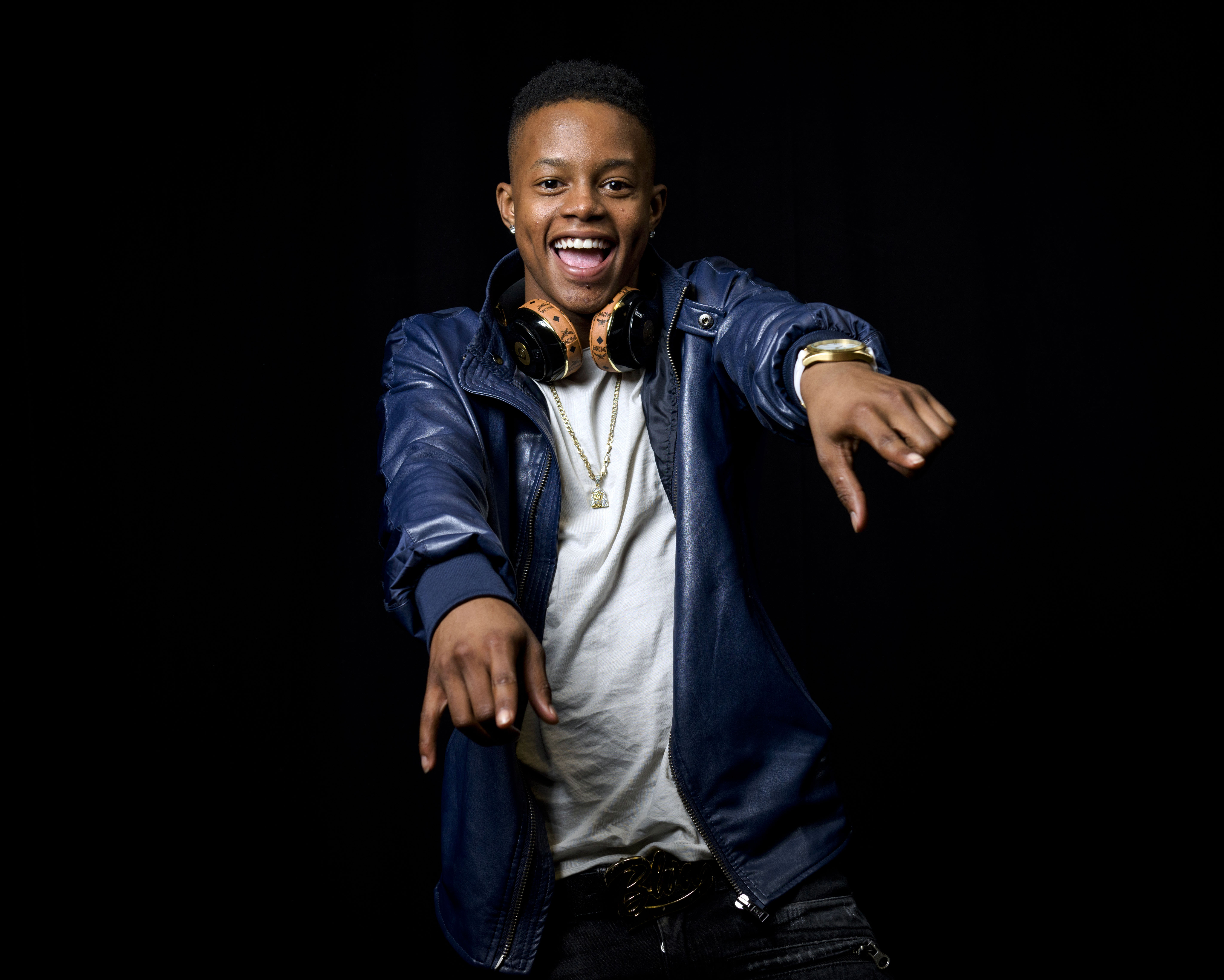 Rapper Silento, 17, poses for a portrait in New York, July 21, 2015.