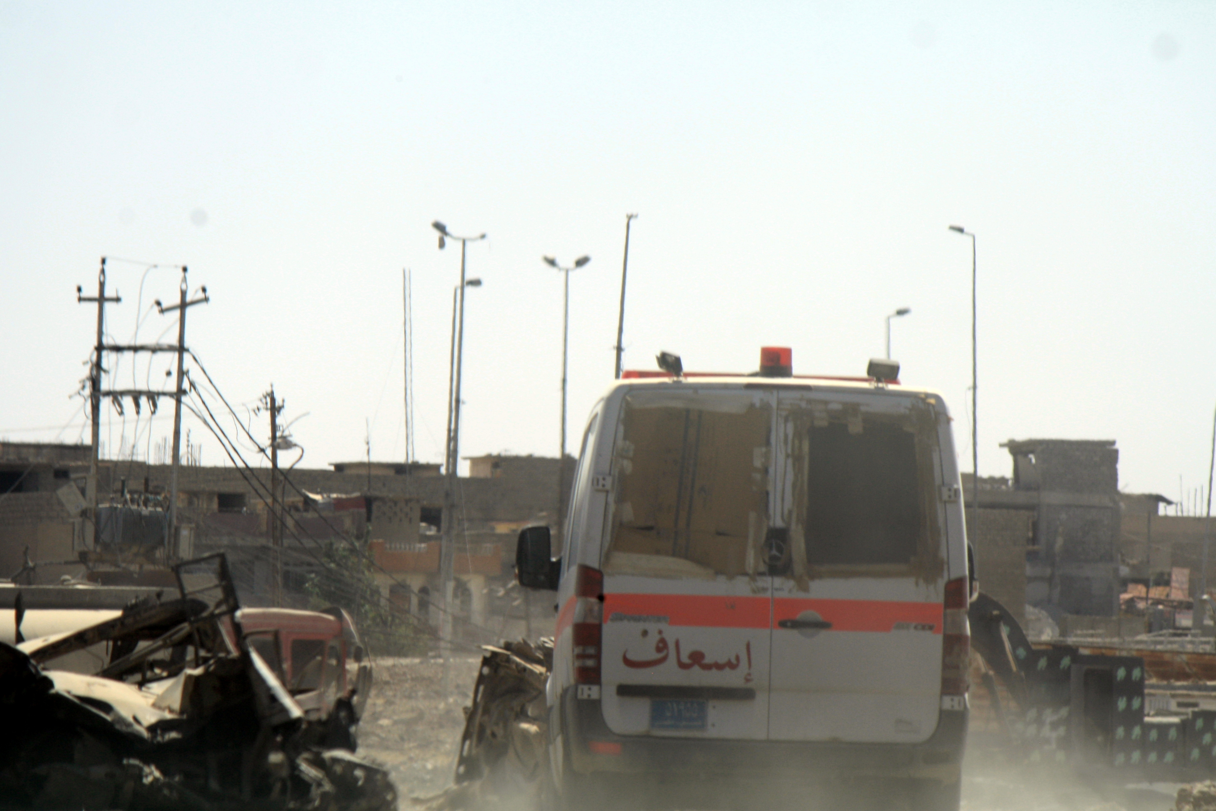 Iraqi health services are already pushed to the brink with hundreds of thousands of displaced people living in harsh conditions and more families fleeing daily, sometimes arriving with gunshot wounds in Mosul, Iraq.