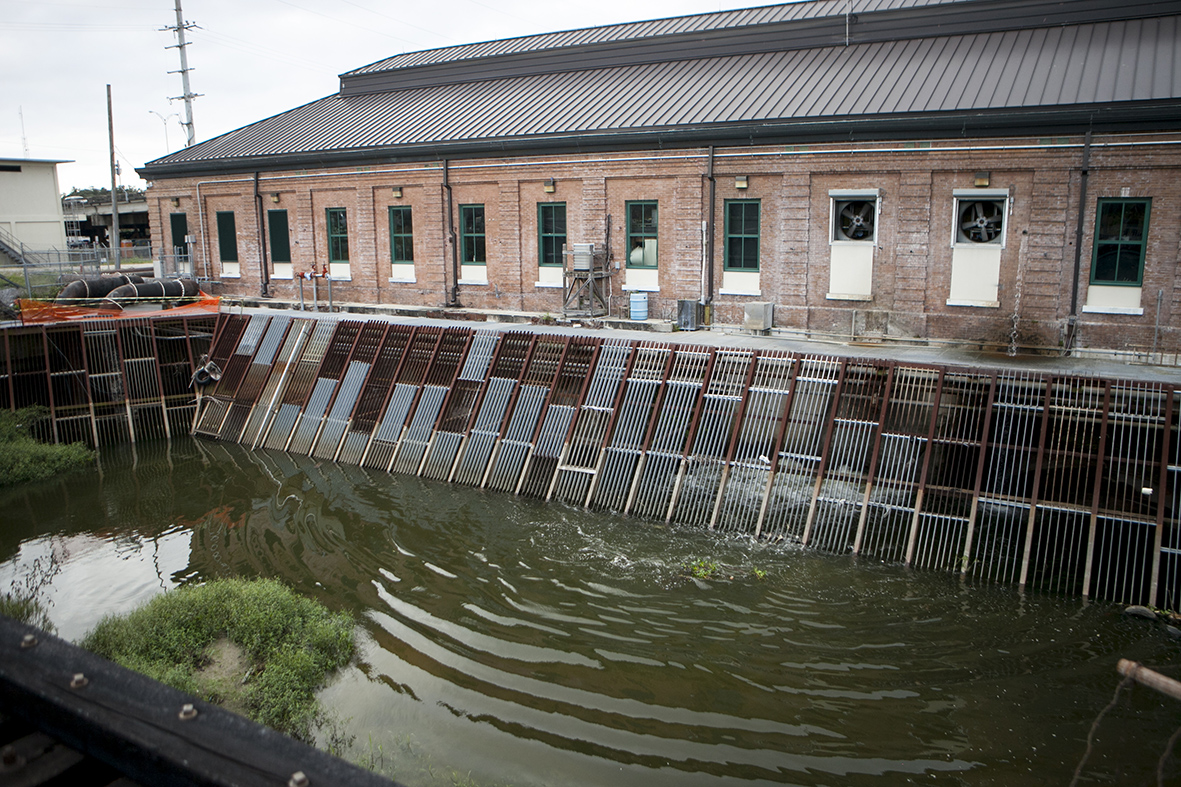 A pump station in New Orleans, operated by the Sewerage and Water Board, which pumps excess water out of the city to help prevent flooding in Louisiana, Nov. 11, 2017.