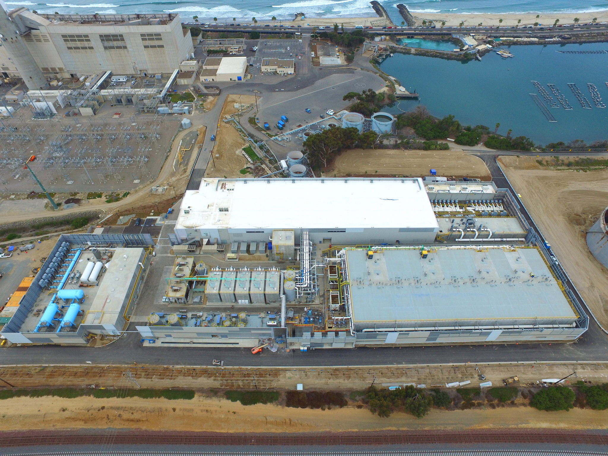 The Carlsbad Desalination Plant in Carlsbad, CA, just north of San Diego, is the largest seawater desalination plant in the Western hemisphere and the latest one to come online worldwide.