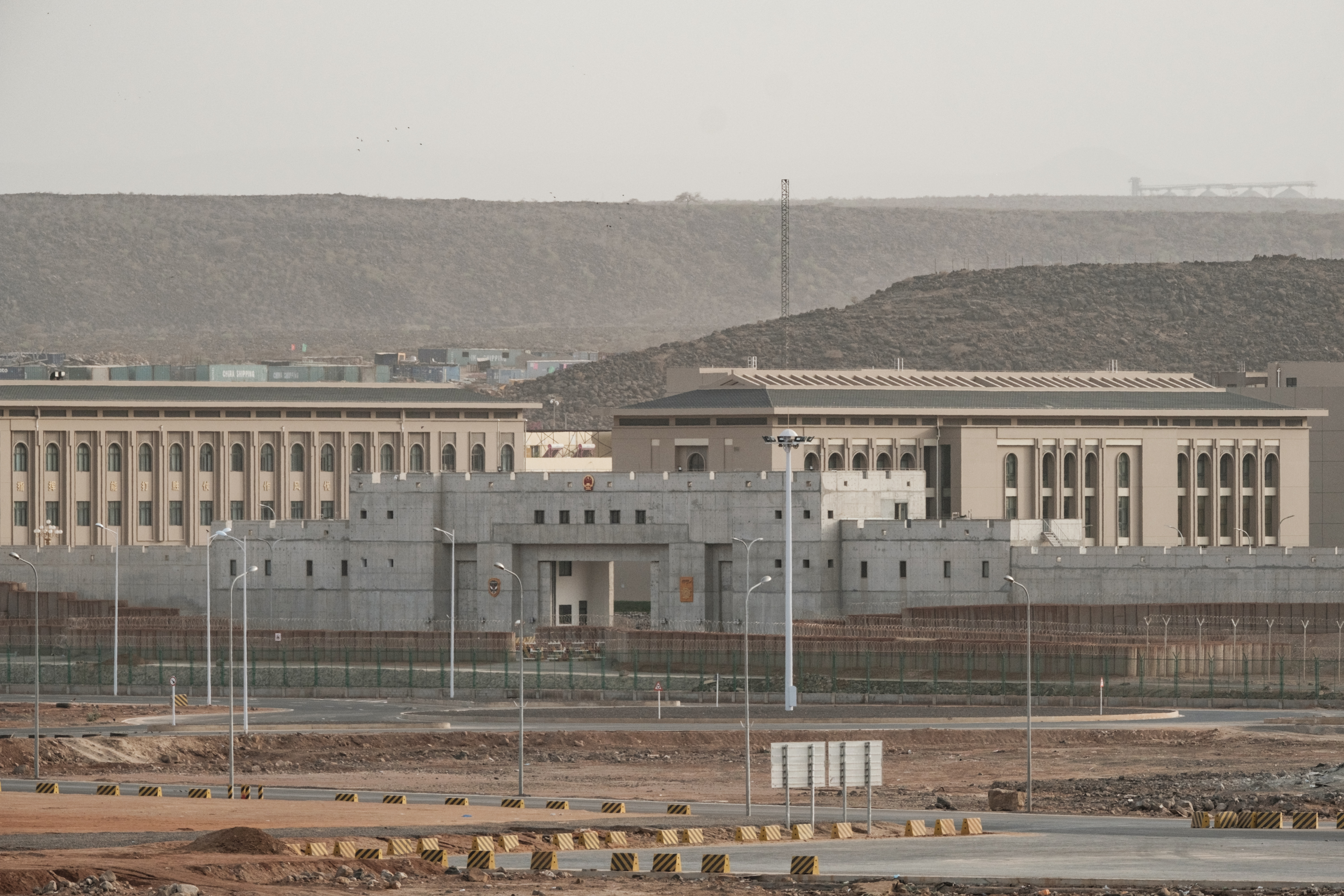 Buildings of a Chinese military base are seen next to Doraleh Multi-Purpose Port in Djibouti, July 4, 2018.
