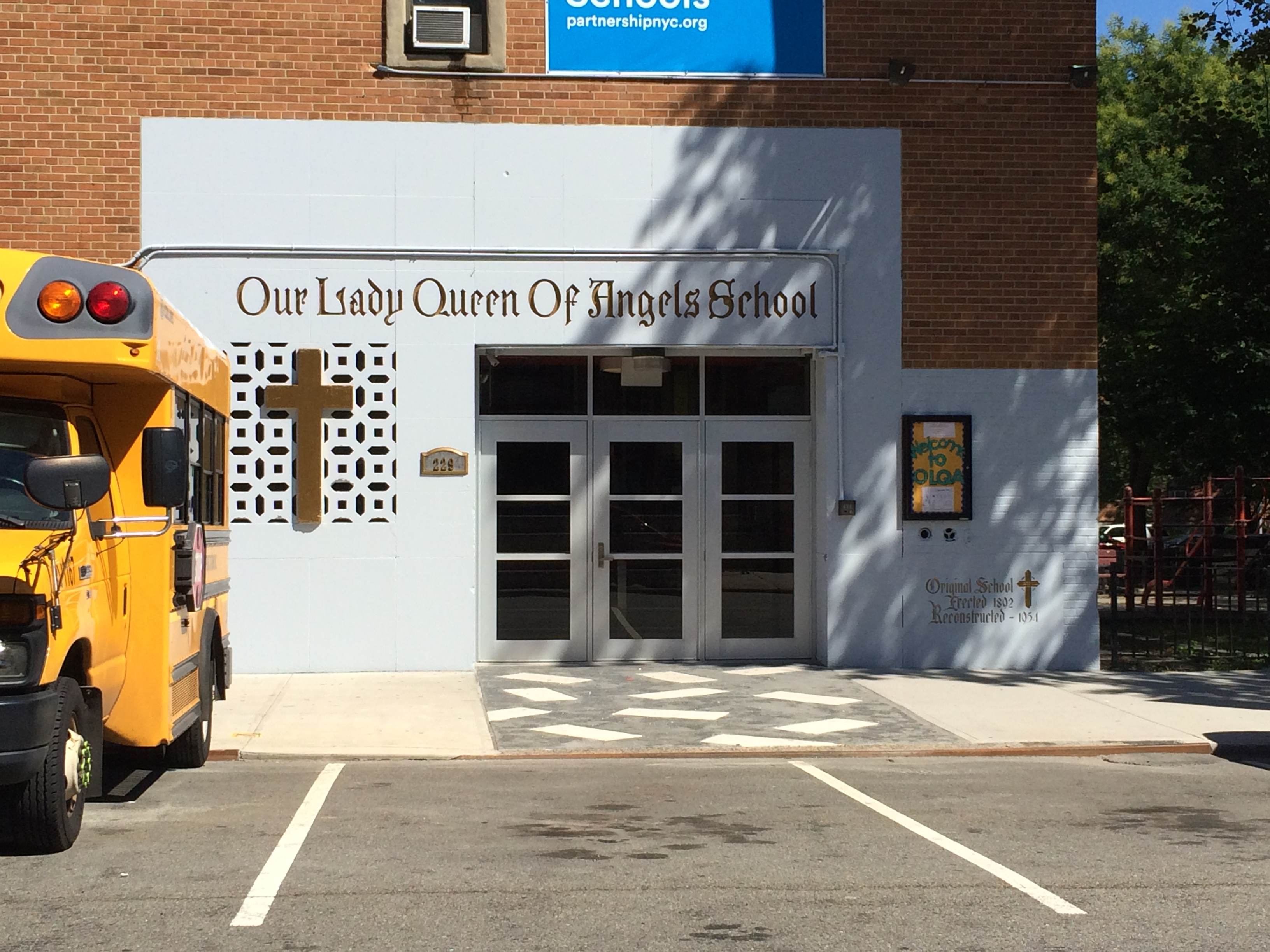 Pope Francis will visit Our Lady Queen of Angels school in East Harlem in New York City on Sept. 25 during his five-day visit to the United States.
