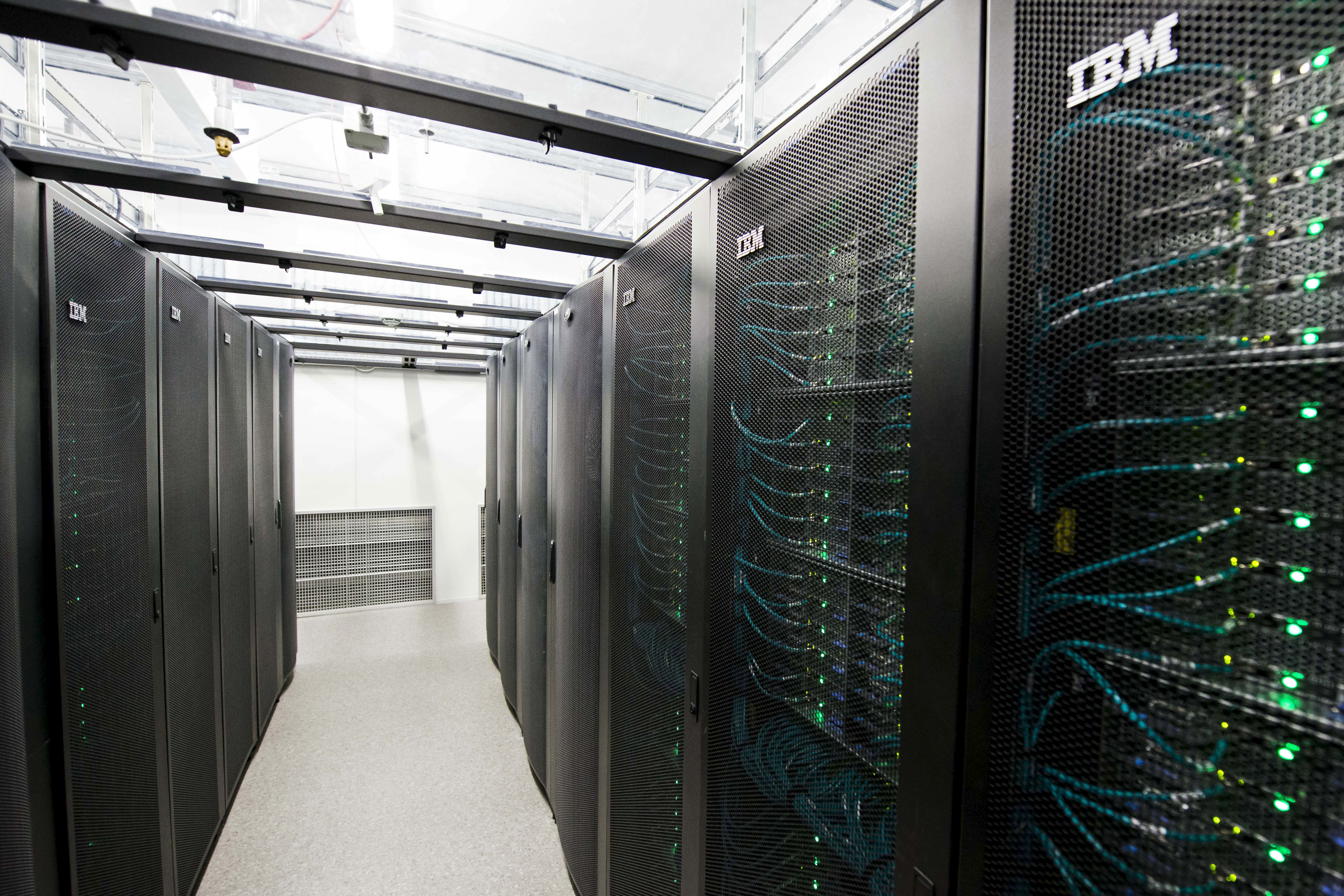Servers for data storage are seen at Advania's Thor Data Center in Hafnarfjordur, Iceland August 7, 2015.